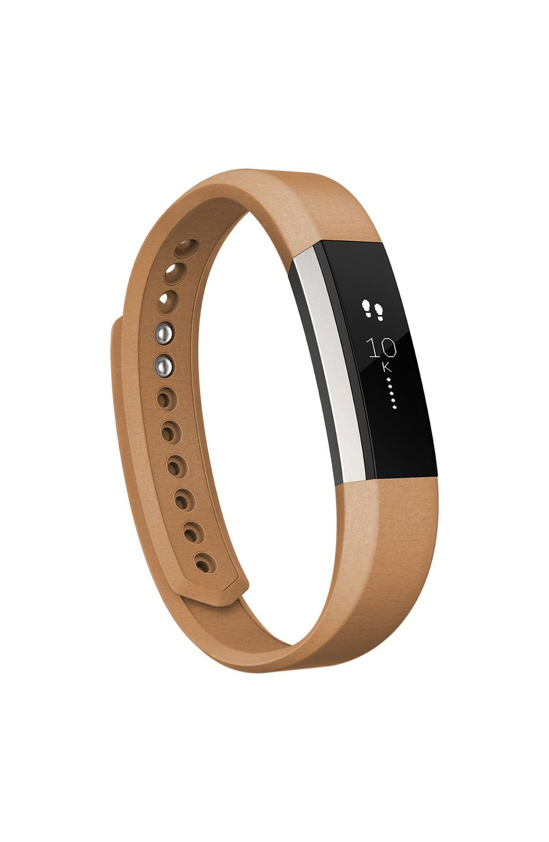 Alta Leather Fitness Watch Band,                             Alternate thumbnail 4, color,                             250