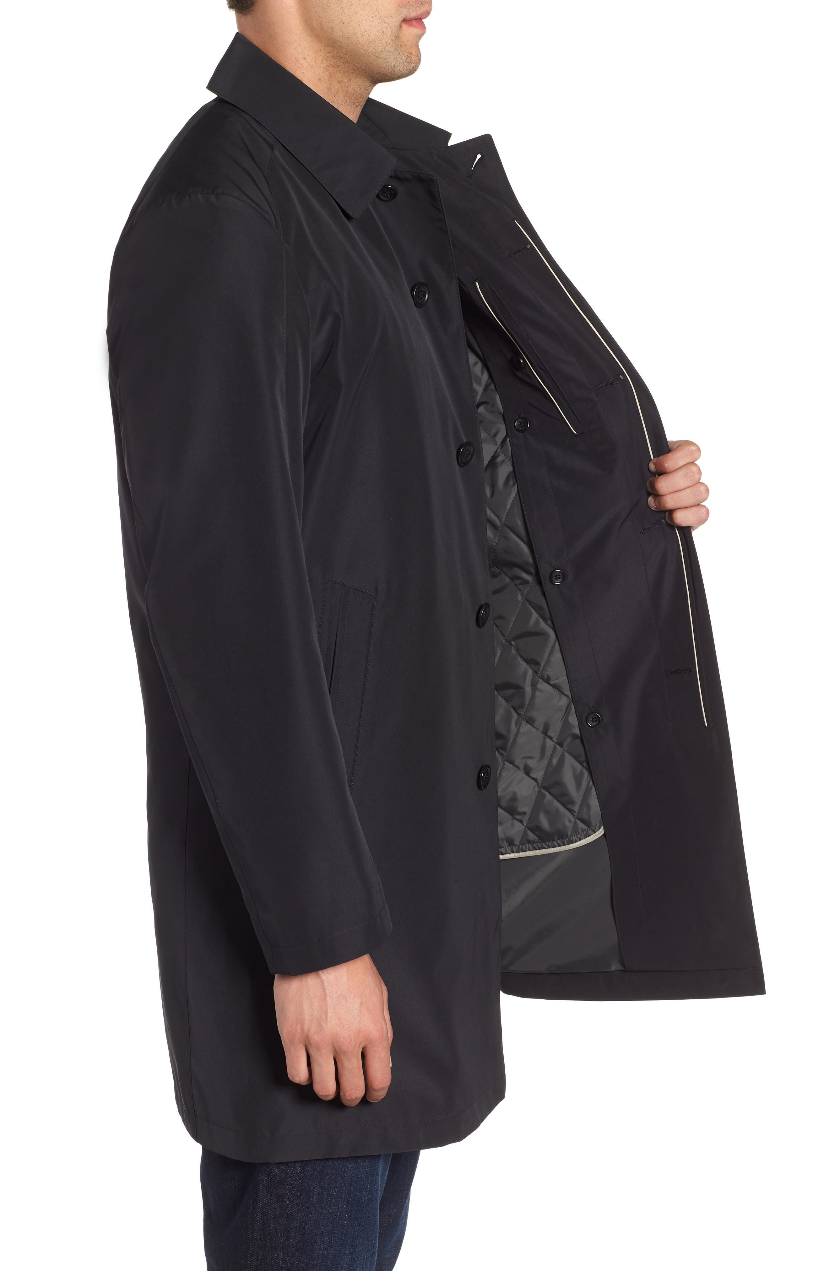 Ducasse Raincoat,                             Alternate thumbnail 3, color,                             BLACK