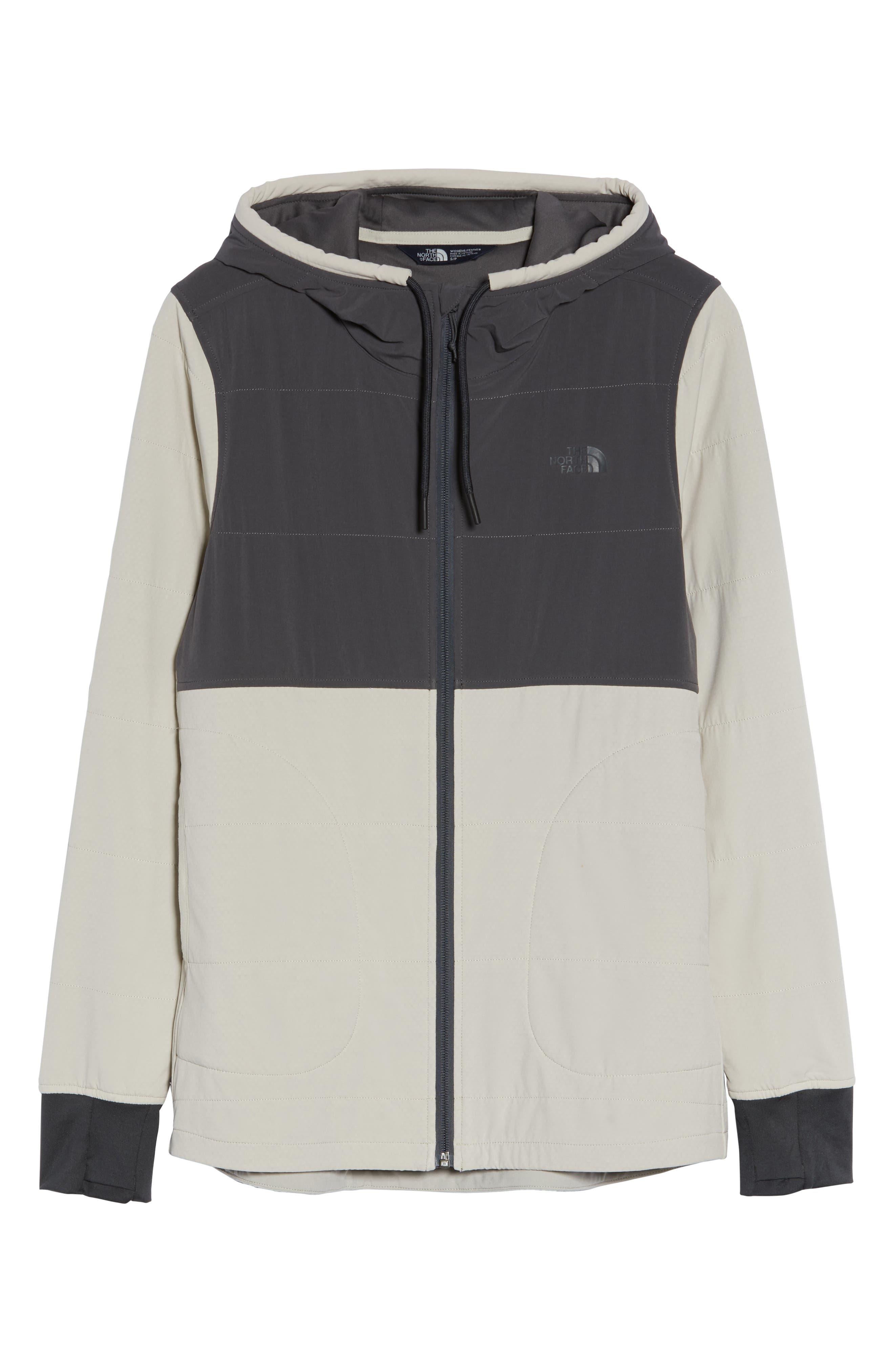 Mountain Zip Hooded Sweatshirt,                             Alternate thumbnail 6, color,                             PEYOTE BEIGE/ GRAPHITE GREY
