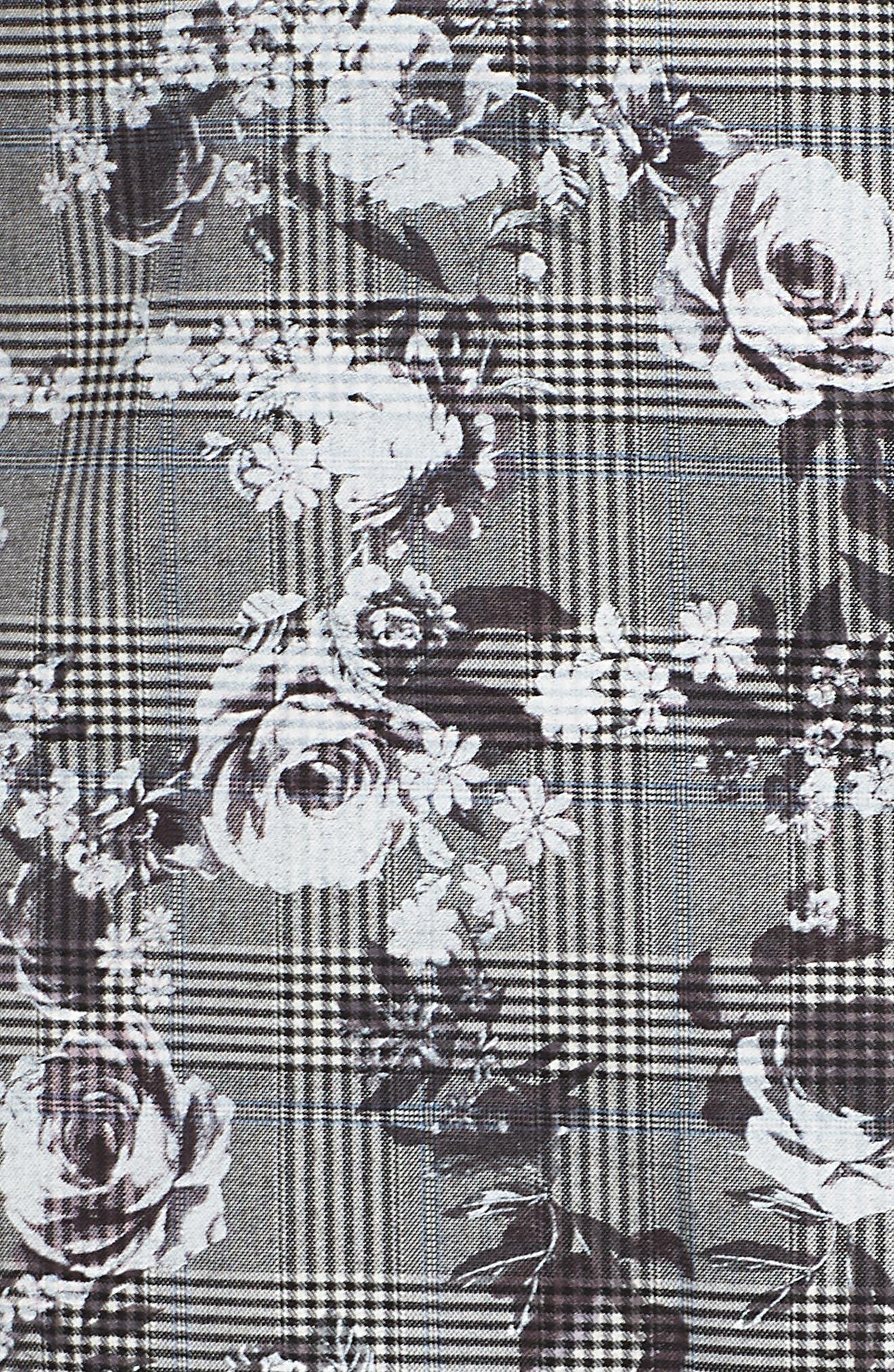 Bailen Pattern Mix Skirt,                             Alternate thumbnail 5, color,                             GREY COMBO