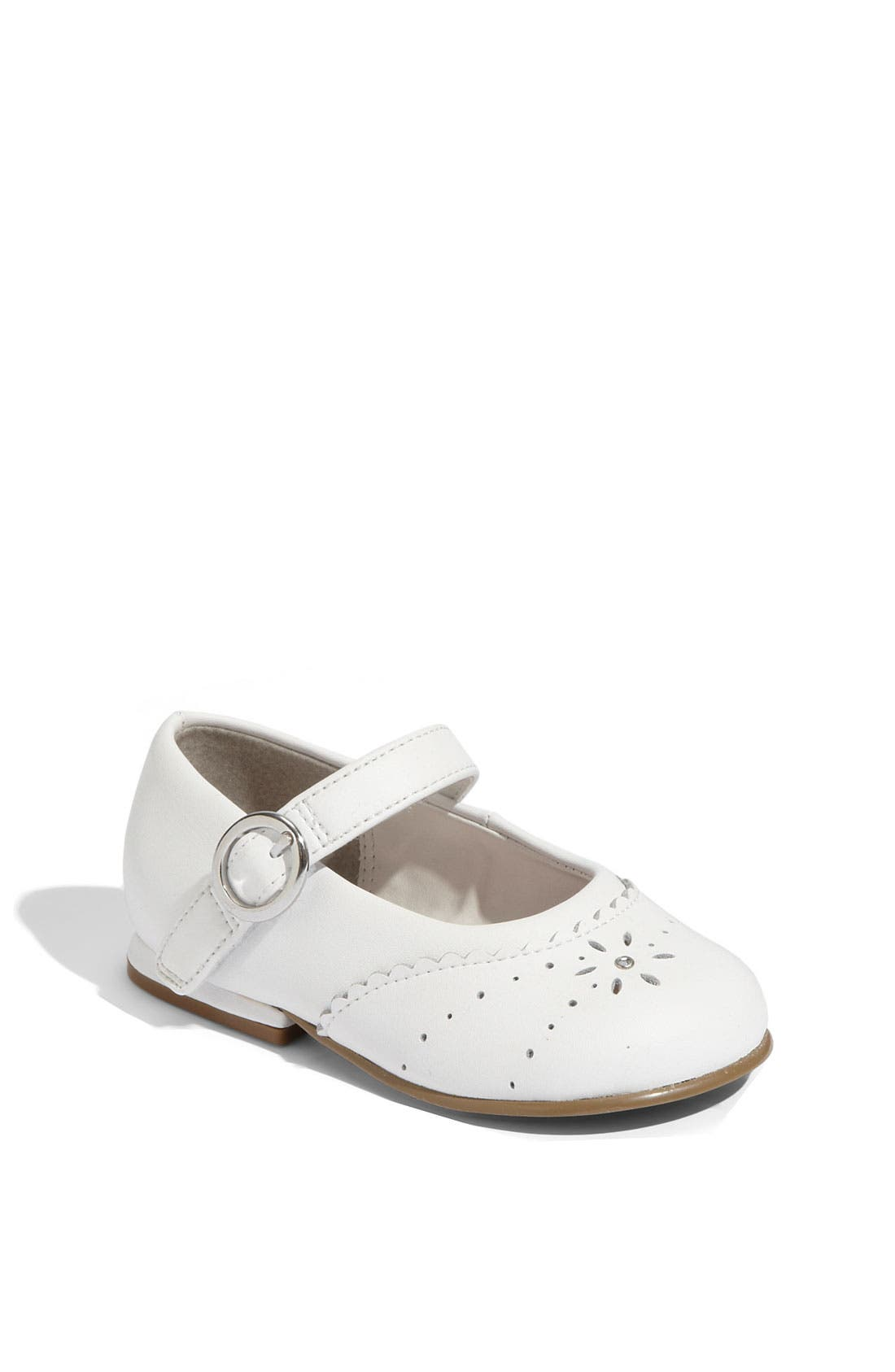 STRIDE RITE,                             'Camila' Mary Jane,                             Main thumbnail 1, color,                             White Leather