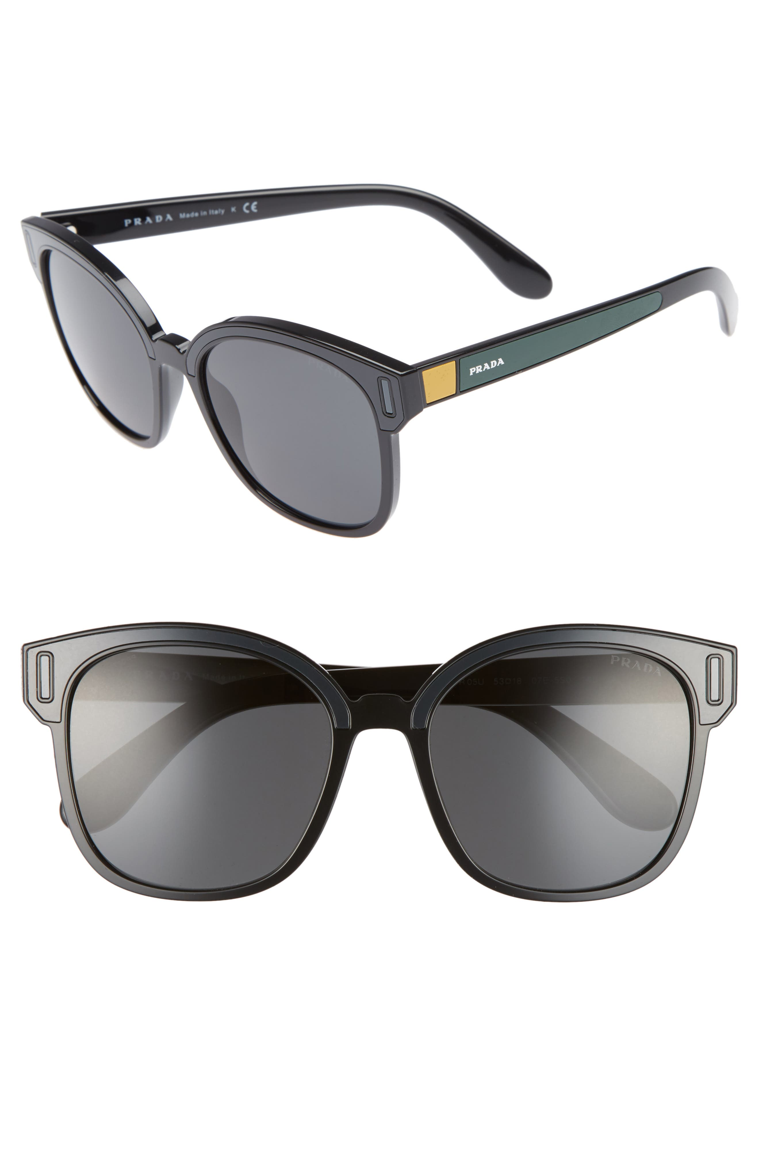 53mm Colorblock Square Sunglasses,                         Main,                         color, 022