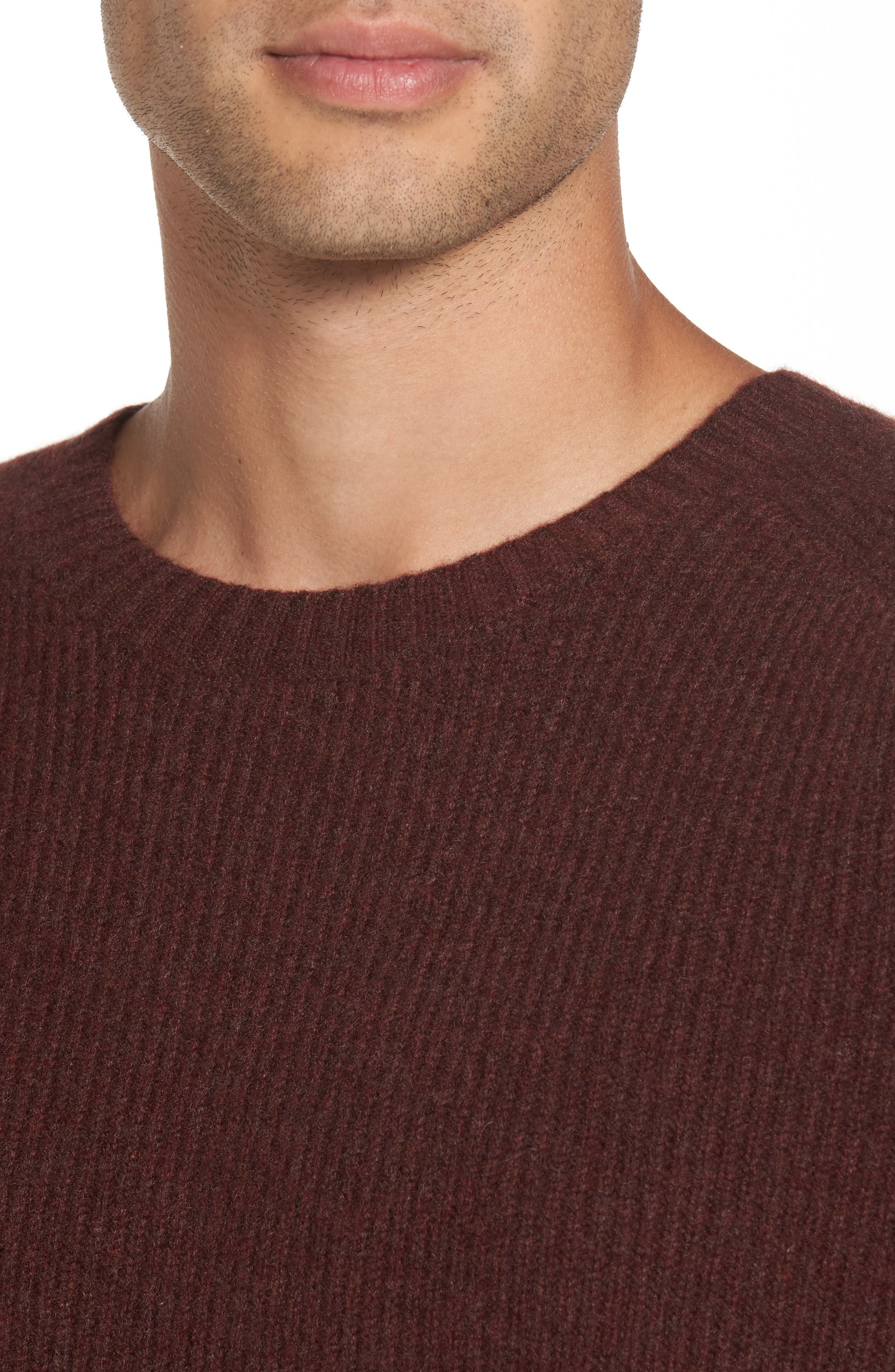 Ribbed Wool & Cashmere Raglan Sweater,                             Alternate thumbnail 16, color,