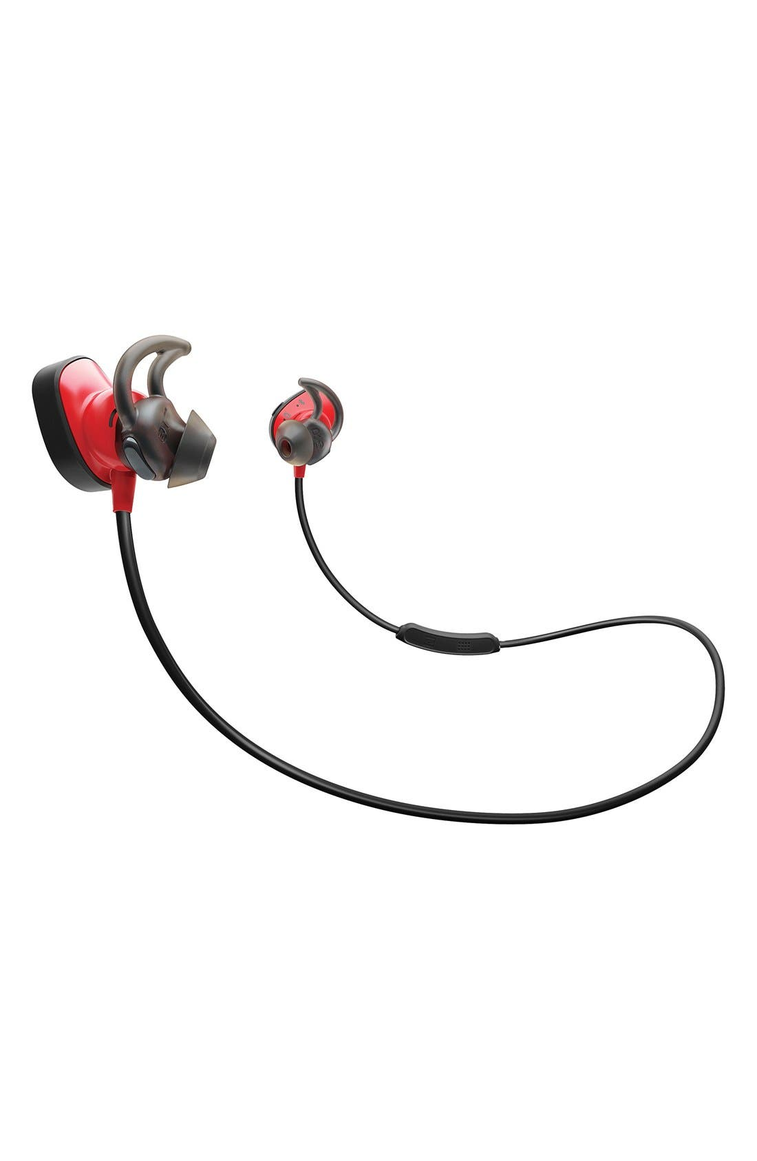 BOSE<SUP>®</SUP>,                             SoundSport<sup>®</sup> Pulse Wireless Headphones,                             Main thumbnail 1, color,                             POWER RED