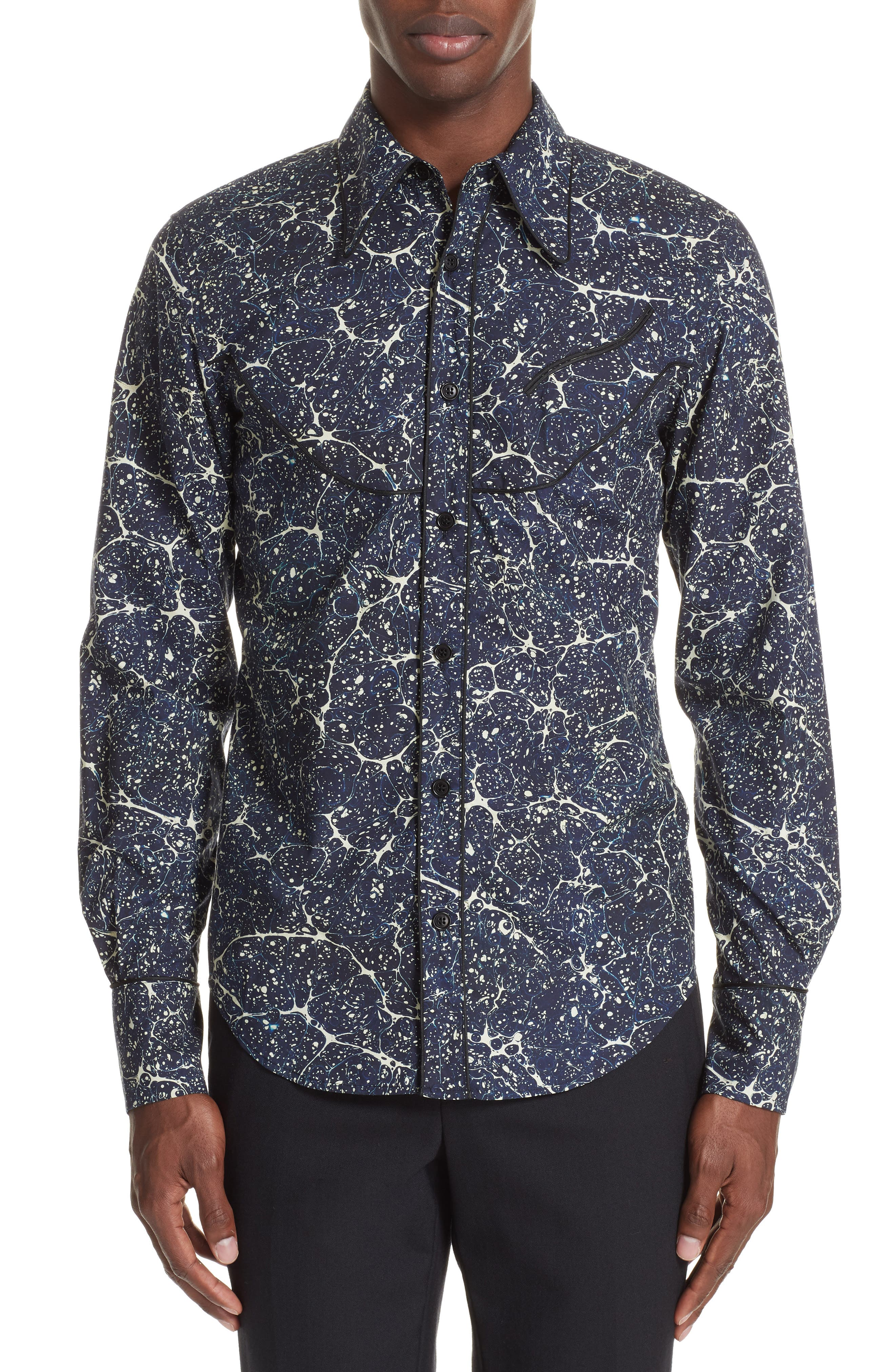Council Print Sport Shirt,                         Main,                         color, 001
