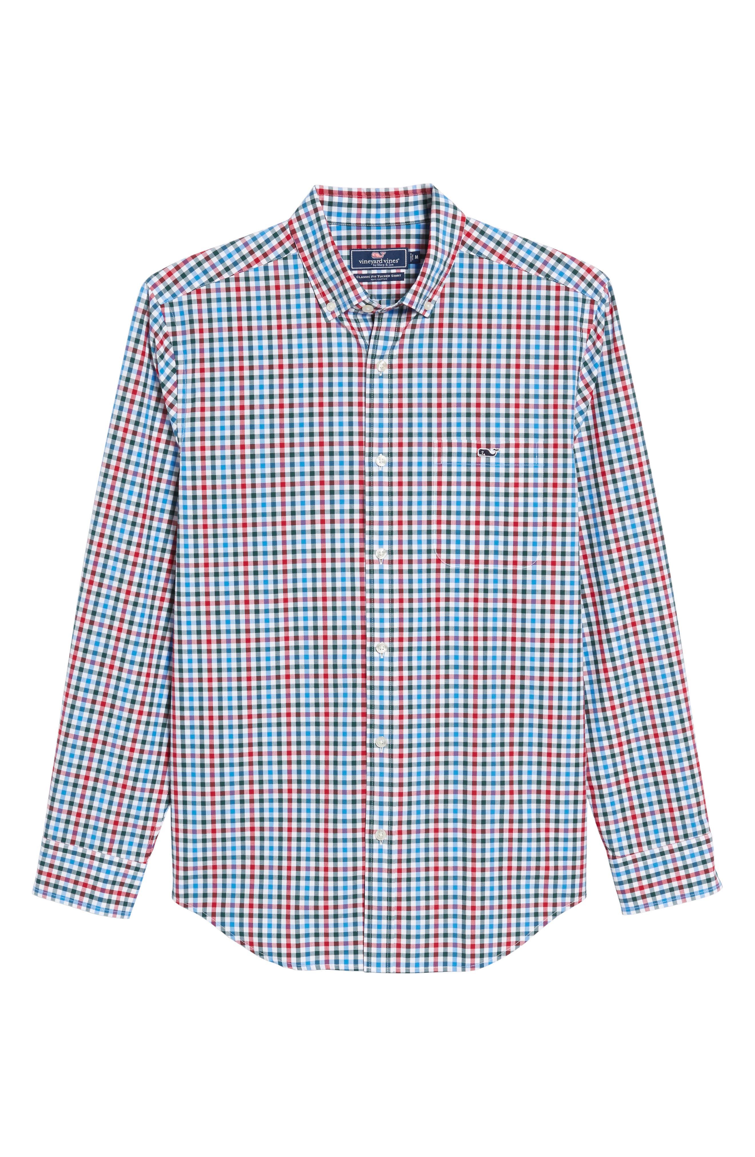 Higgins Beach Classic Fit Gingham Sport Shirt,                             Alternate thumbnail 6, color,                             620