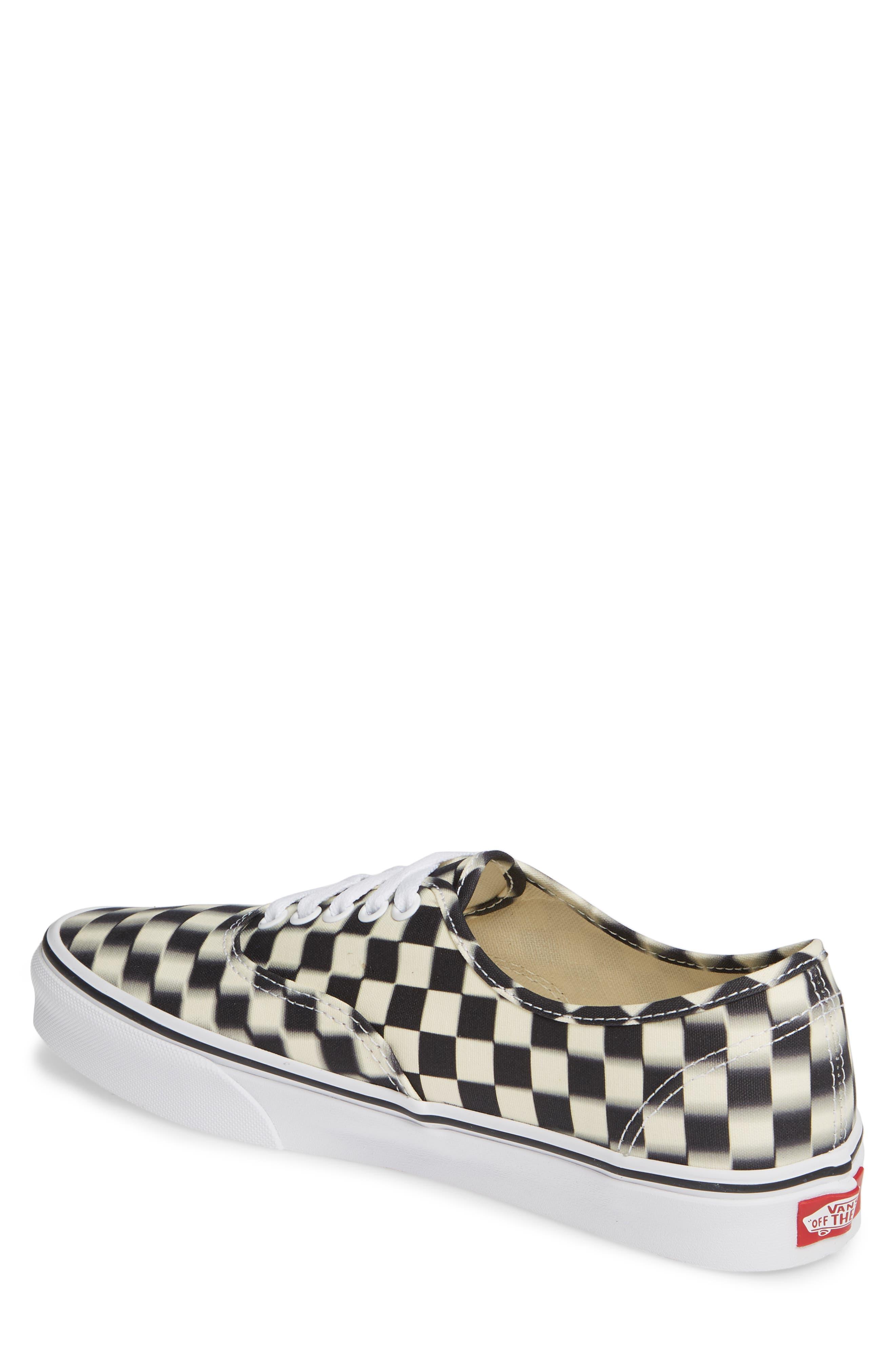 VANS,                             UA Authentic Sneaker,                             Alternate thumbnail 2, color,                             BLACK/ CLASSIC WHITE CHECK