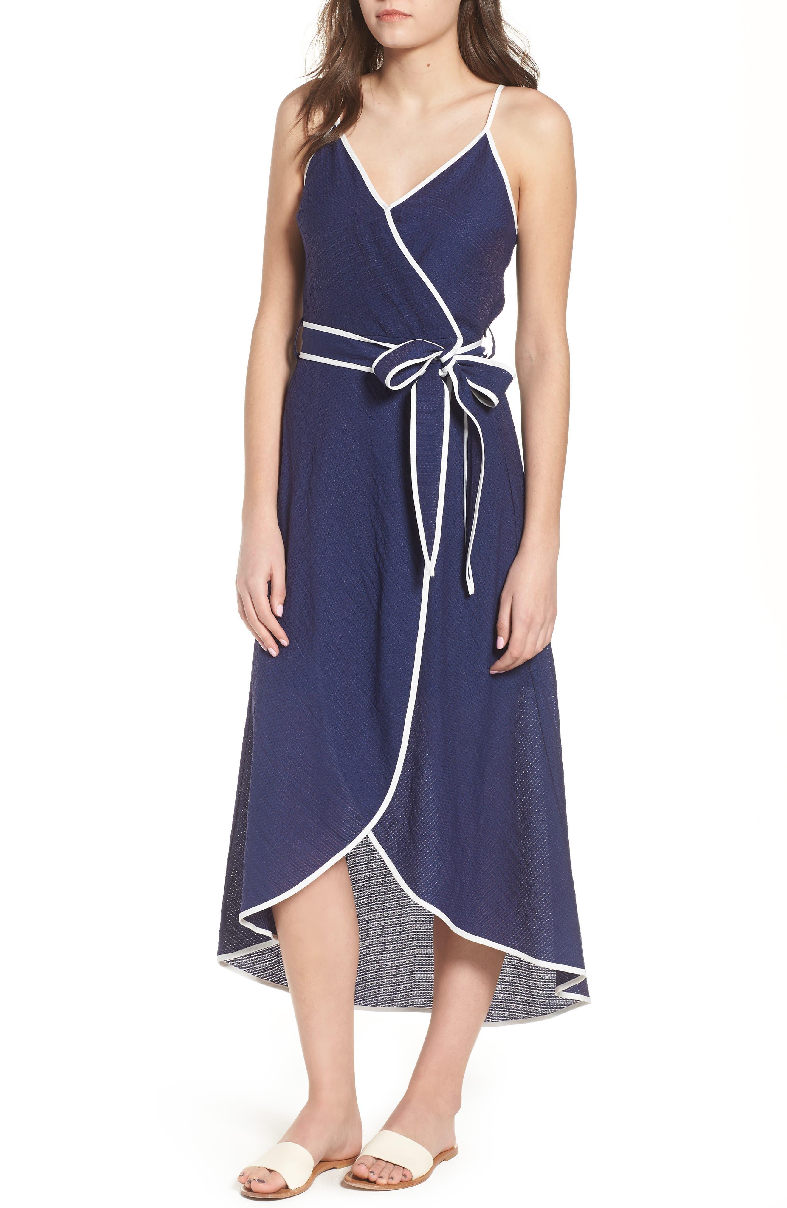Midi Wrap Style Dress,                             Main thumbnail 1, color,