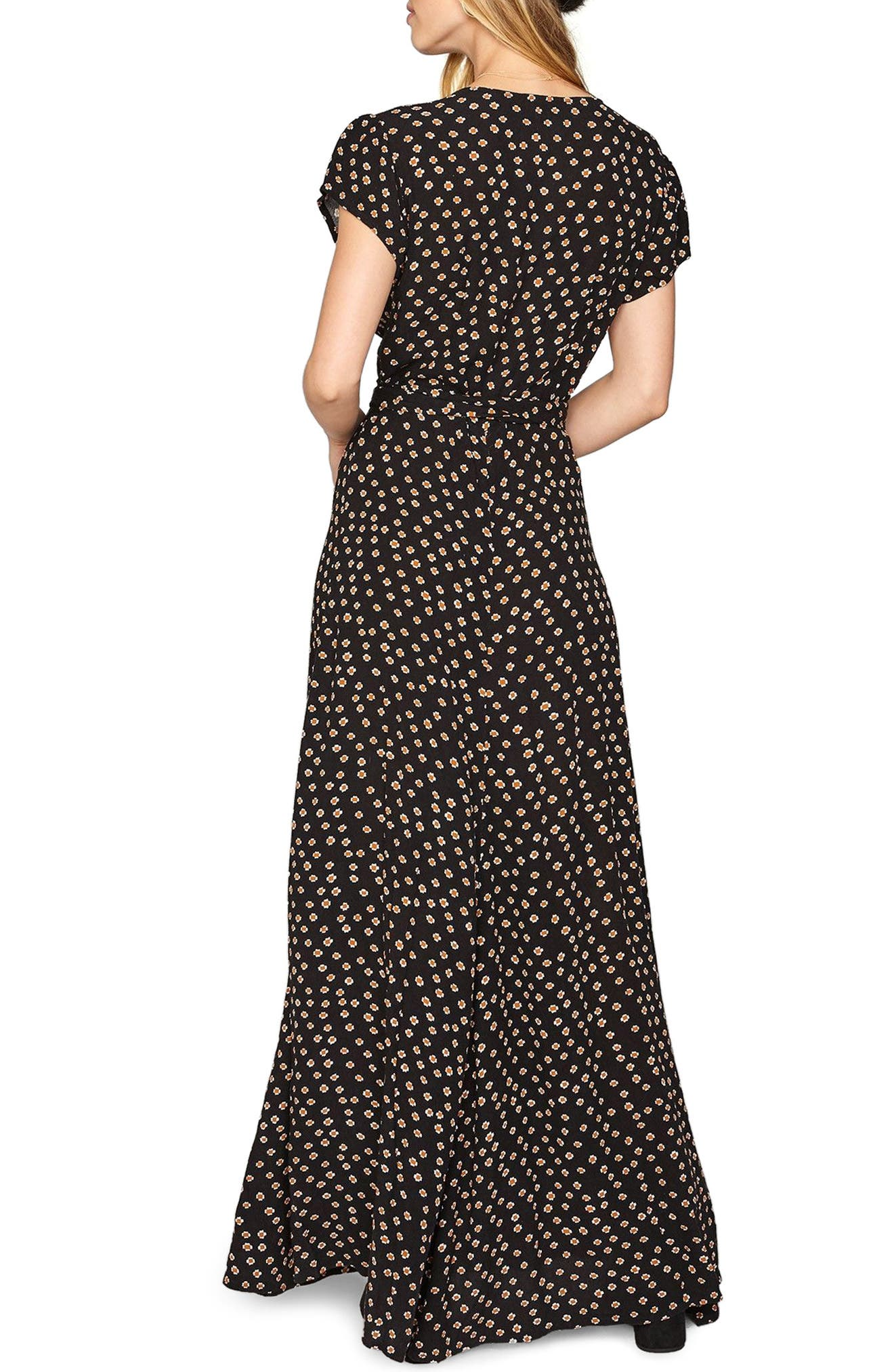 Beachscape Maxi Wrap Dress,                             Alternate thumbnail 2, color,                             001