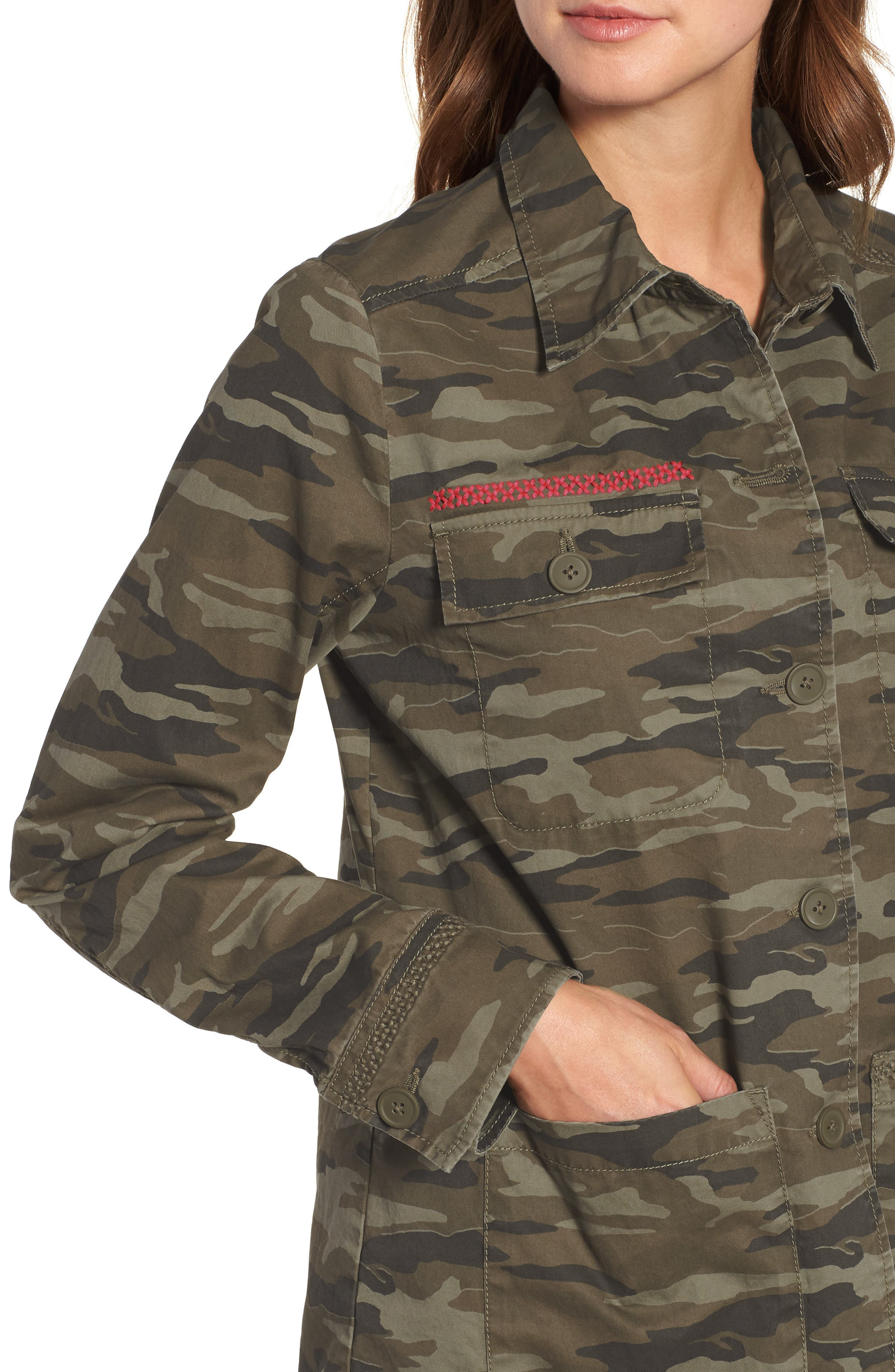 Utility Jacket,                             Alternate thumbnail 4, color,                             OLIVE CAMO PRINT