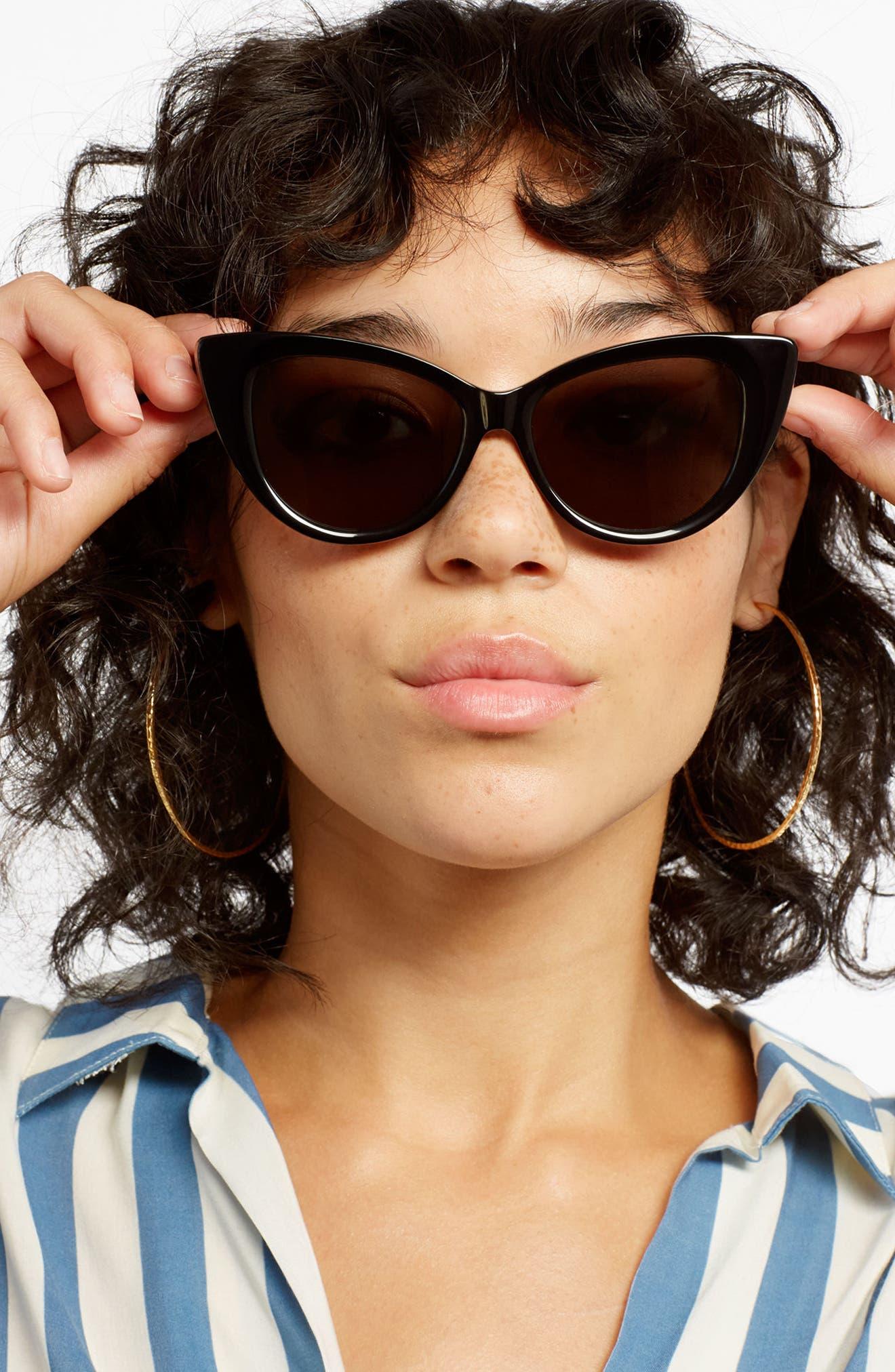 SONIX,                             Kyoto 51mm Cat Eye Sunglasses,                             Alternate thumbnail 4, color,                             001