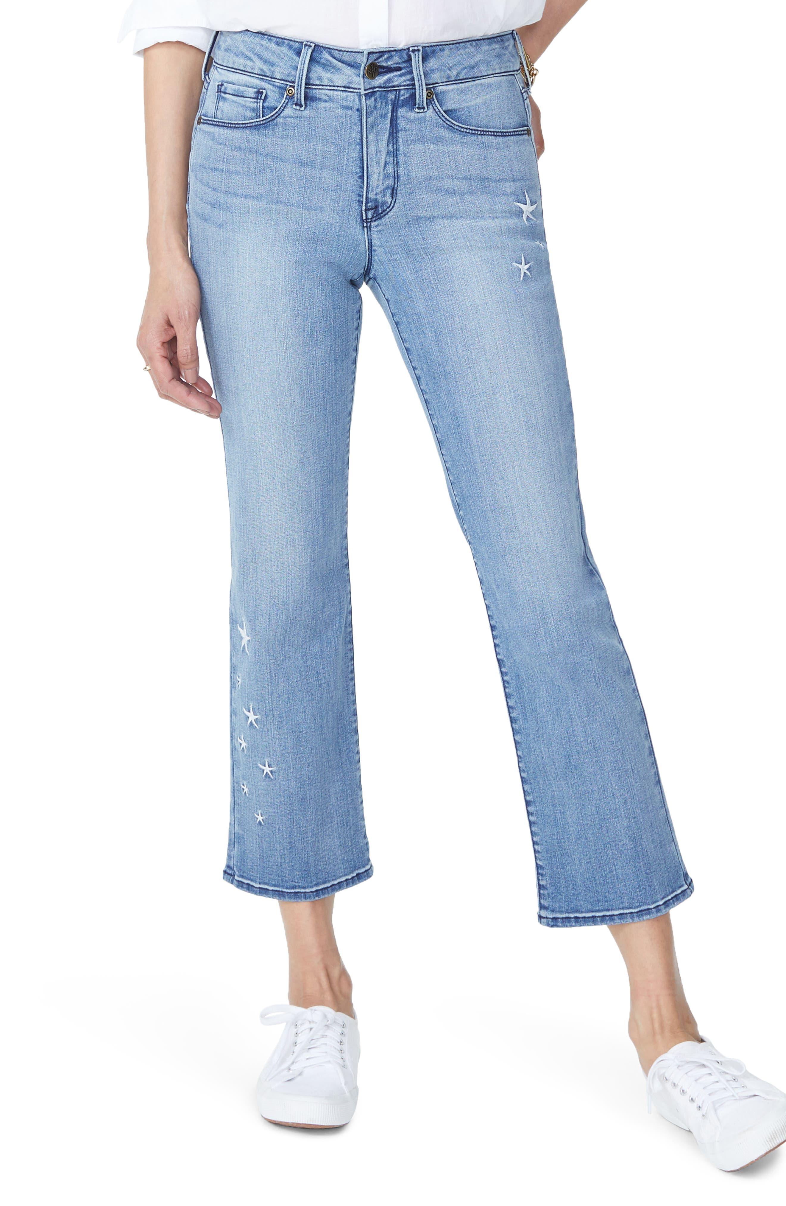 Marilyn High Waist Straight Leg Star Ankle Jeans,                         Main,                         color, POINT DUME