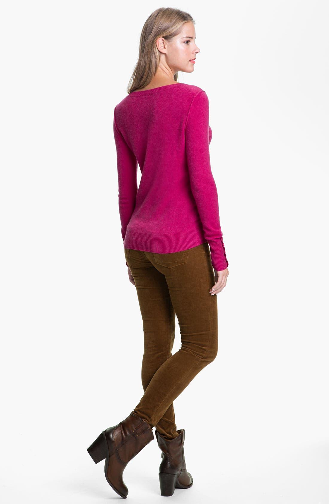 'Diana' Stretch Corduroy Skinny Pants,                             Alternate thumbnail 112, color,