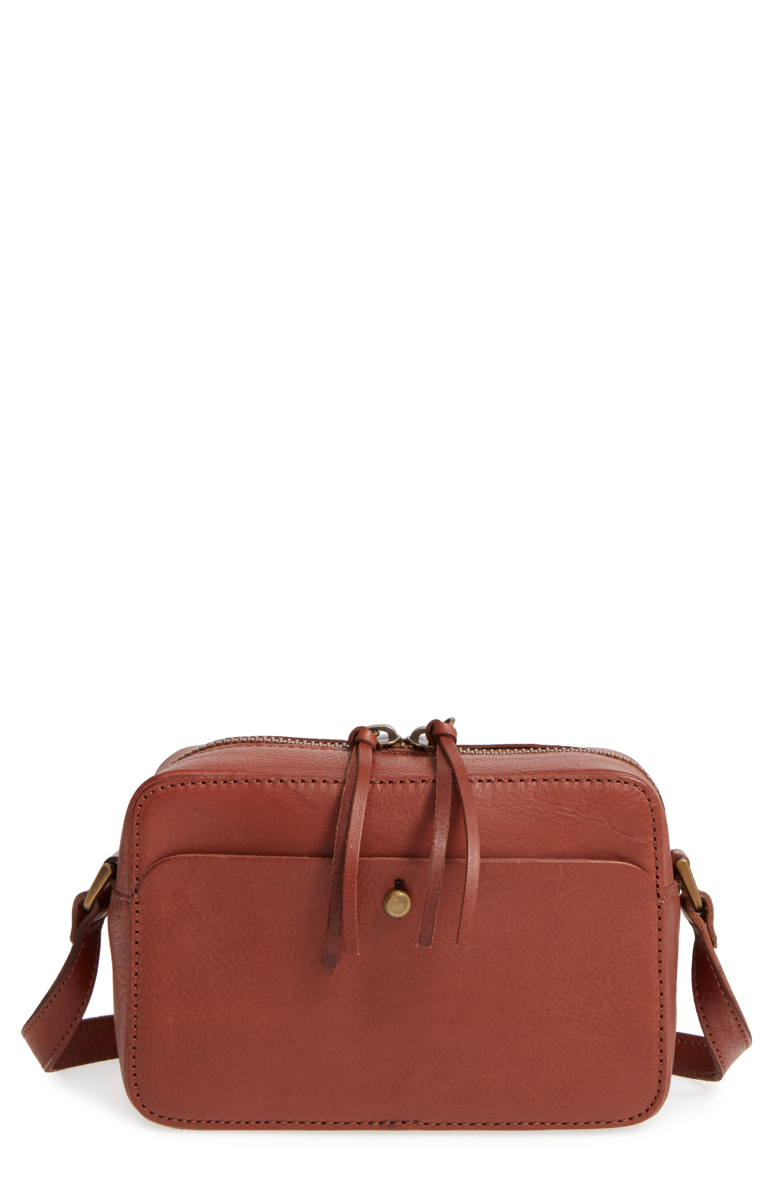 Leather Camera Bag,                             Main thumbnail 1, color,                             200