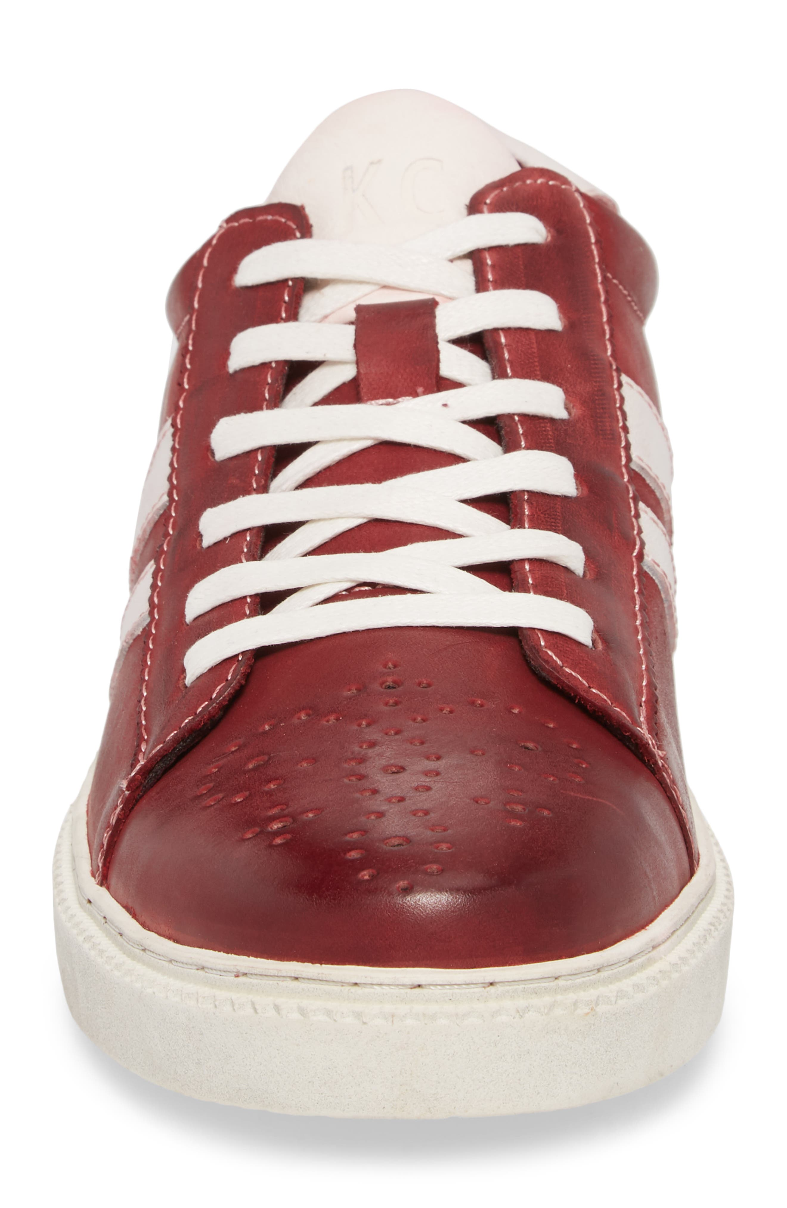Madox Low Top Sneaker,                             Alternate thumbnail 4, color,                             RED