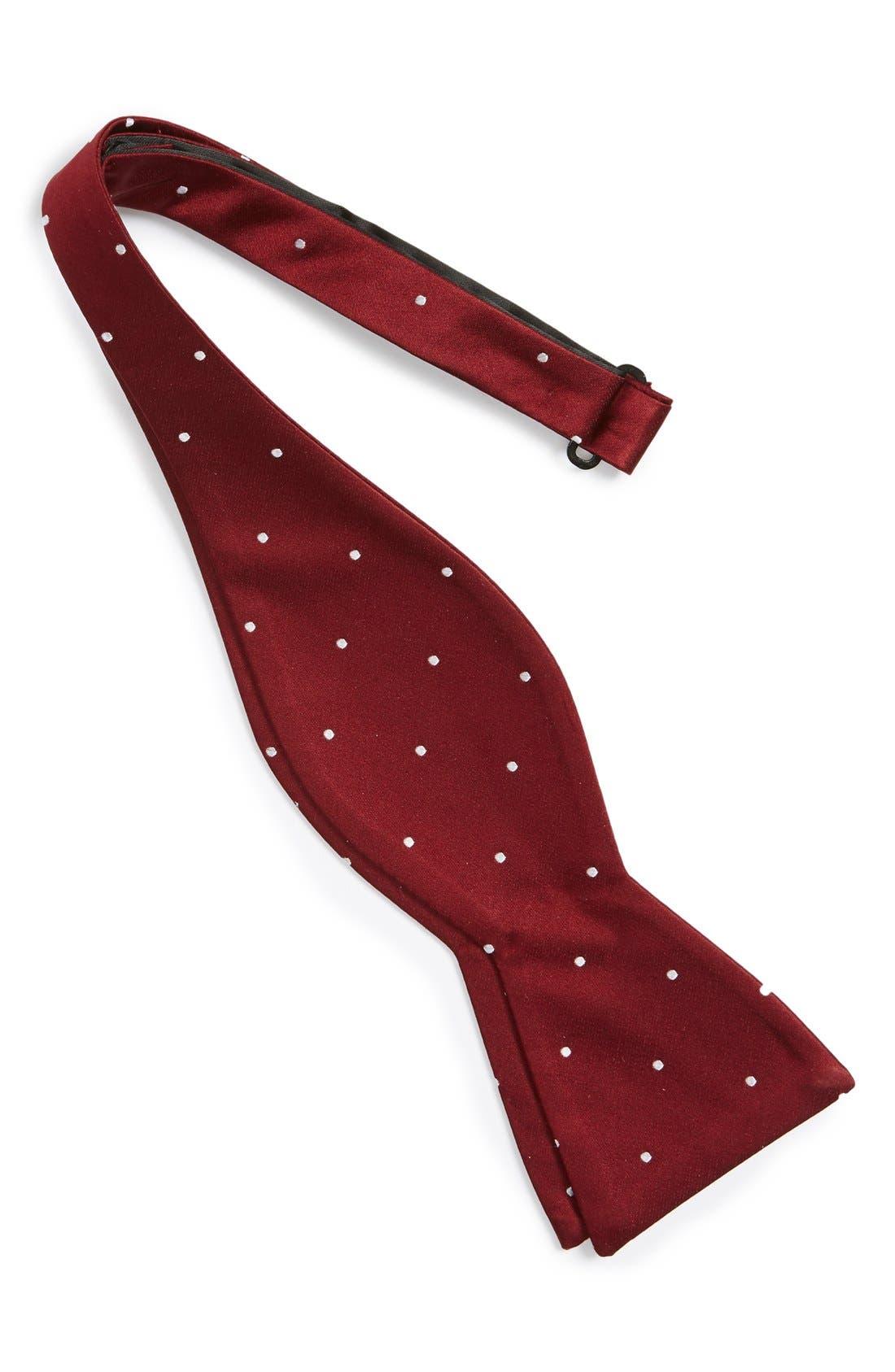 Dot Silk Bow Tie,                             Alternate thumbnail 3, color,                             603