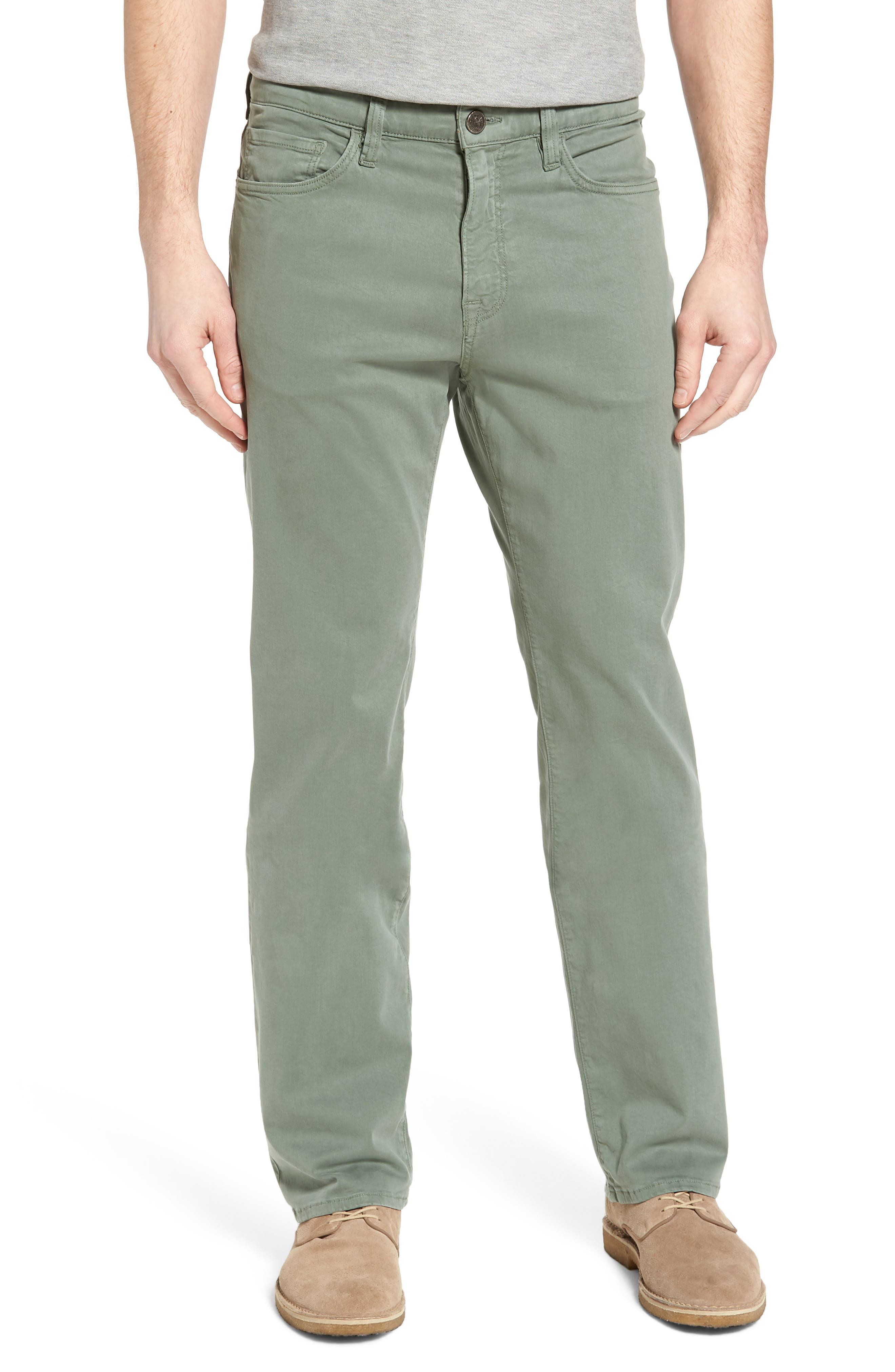 34 HERITAGE Charisma Relaxed Fit Twill Pants, Main, color, MOSS TWILL
