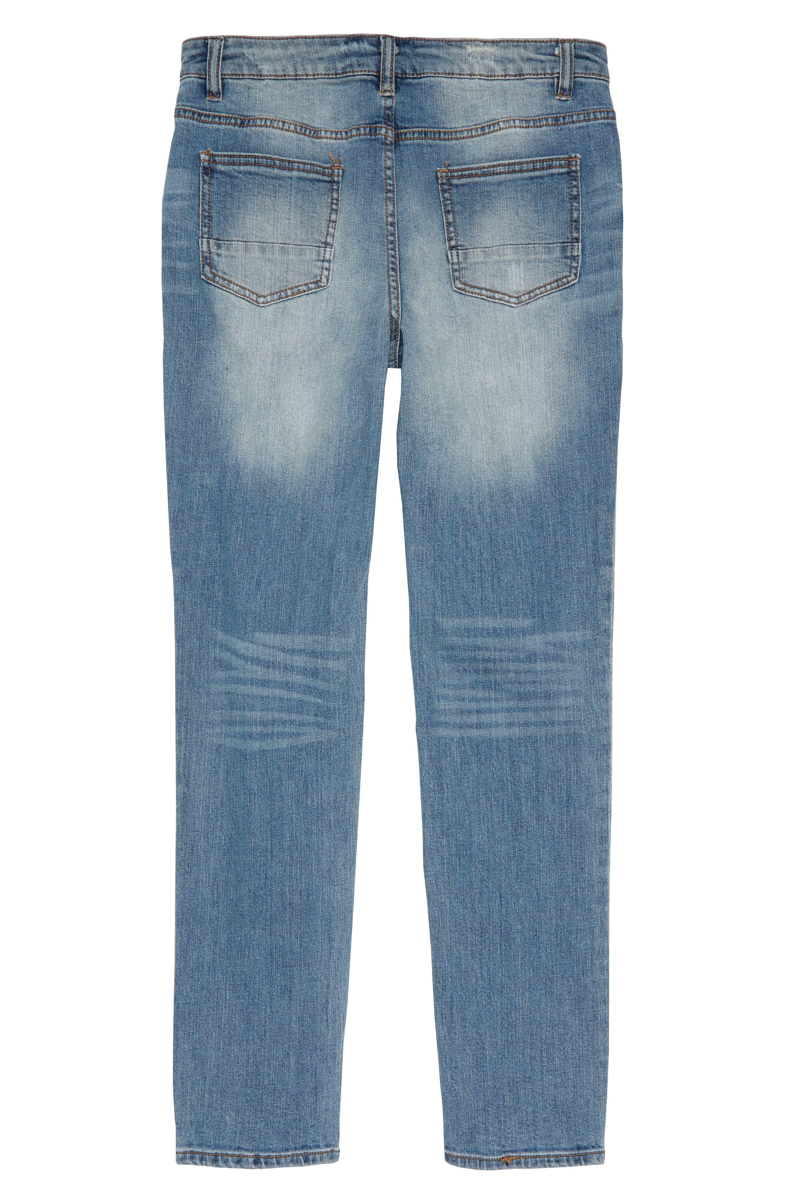 Elwood Pieced Skinny Jeans,                             Alternate thumbnail 2, color,                             424