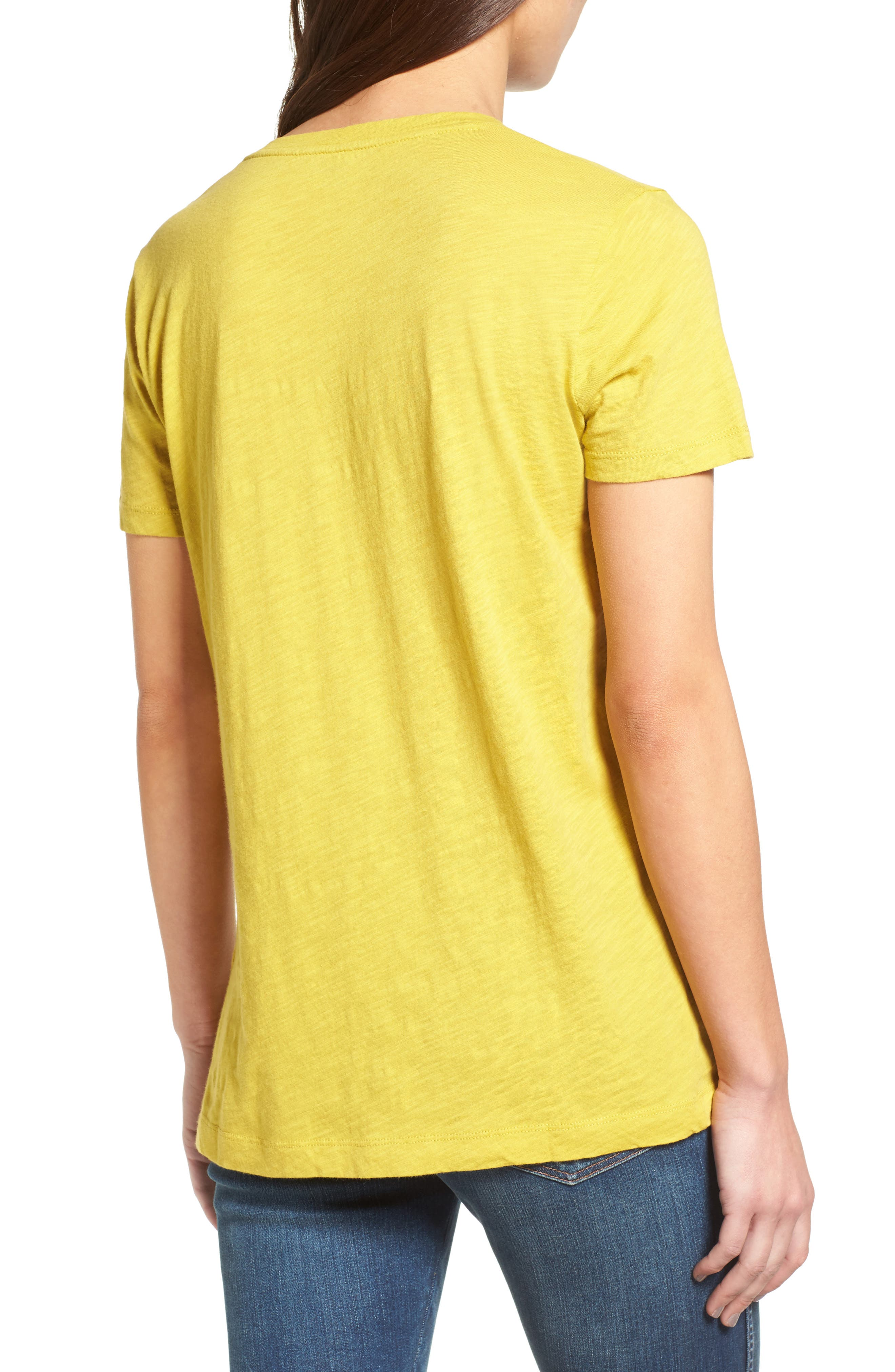 Whisper Cotton V-Neck Pocket Tee,                             Alternate thumbnail 62, color,