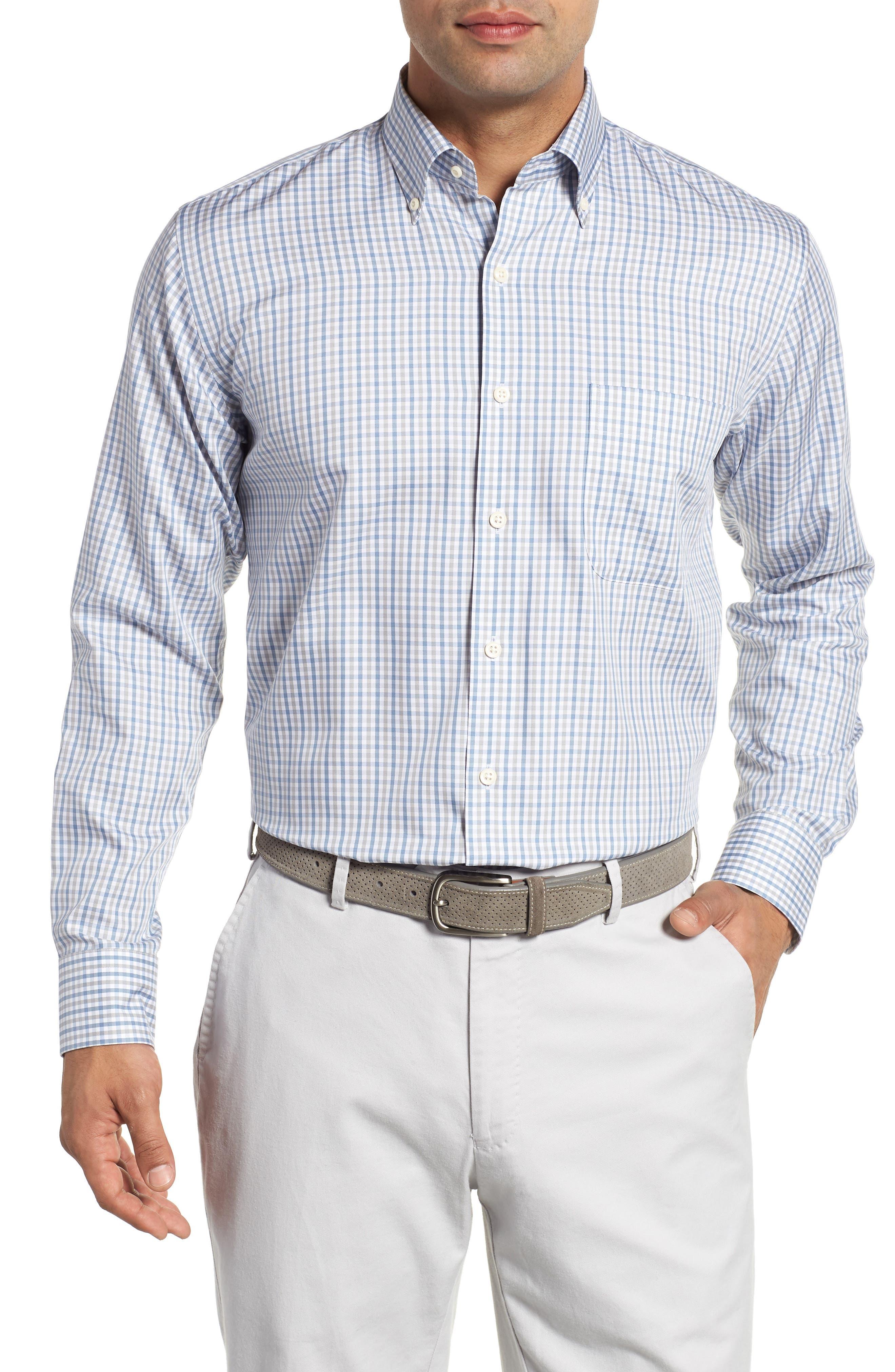 Lake City Regular Fit Tattersall Sport Shirt,                         Main,                         color, 020