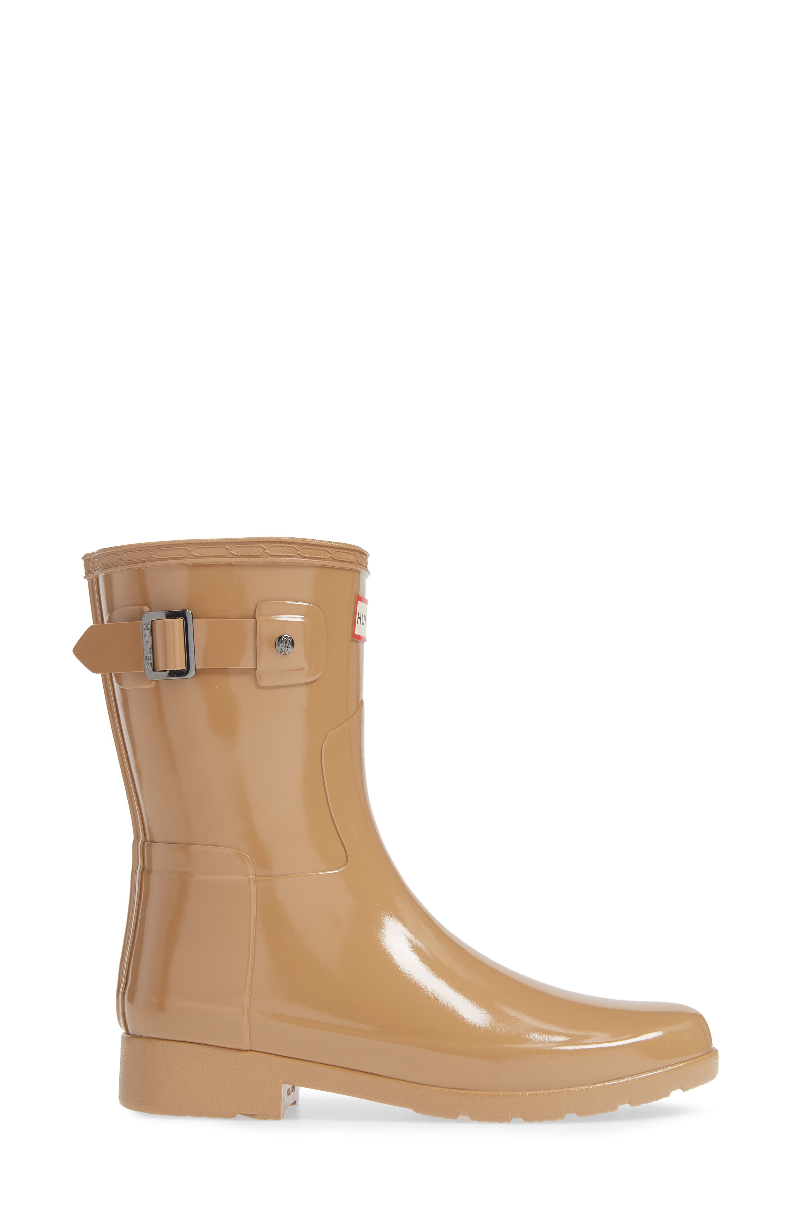 Refined Short Gloss Rain Boot,                             Alternate thumbnail 3, color,                             200
