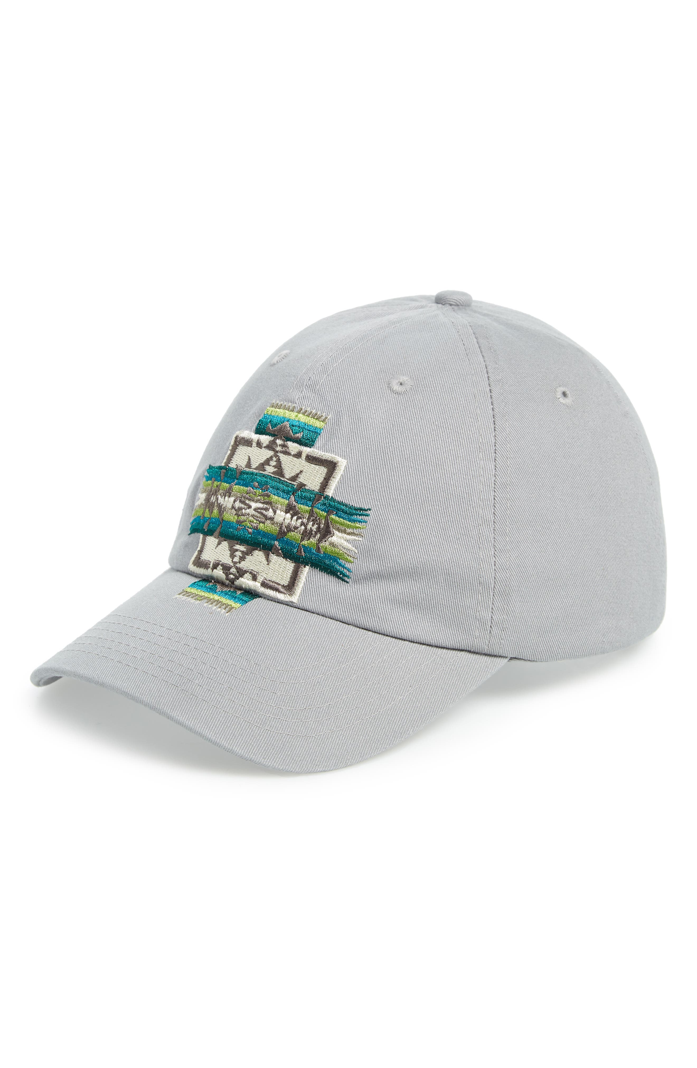 Chief Joseph Embroidered Cap,                             Main thumbnail 1, color,                             LIGHT GREY