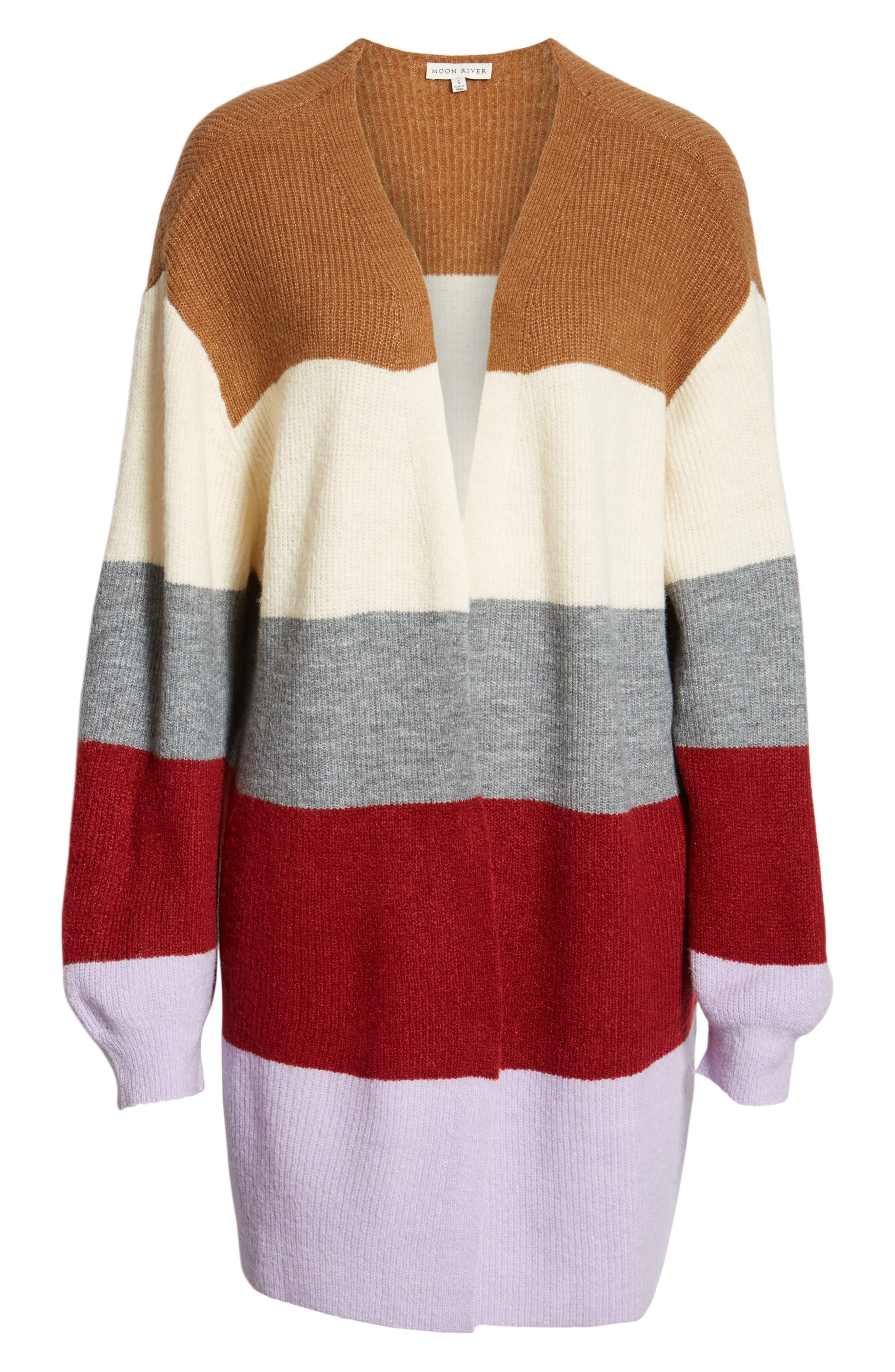 Stripe Cardigan,                             Alternate thumbnail 6, color,                             LAVENDER STRIPE