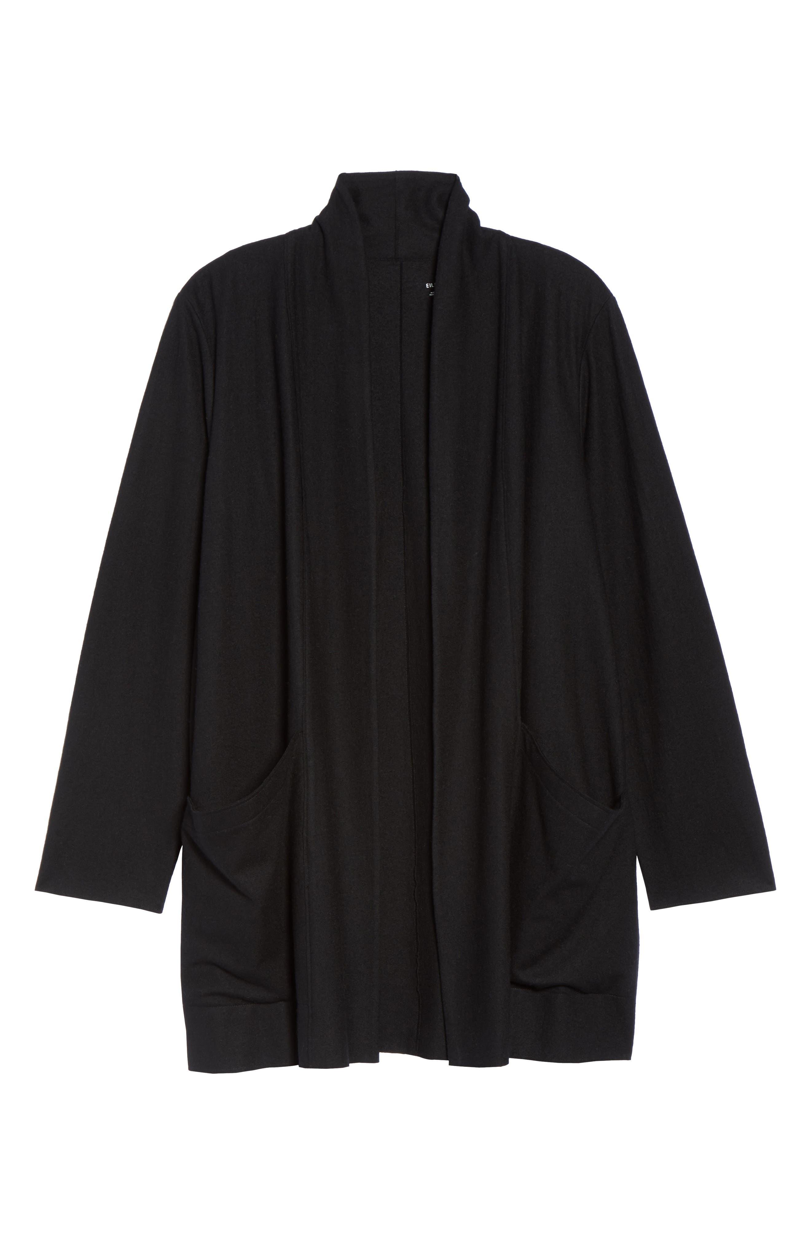 Boiled Wool Jacket,                             Alternate thumbnail 6, color,                             001