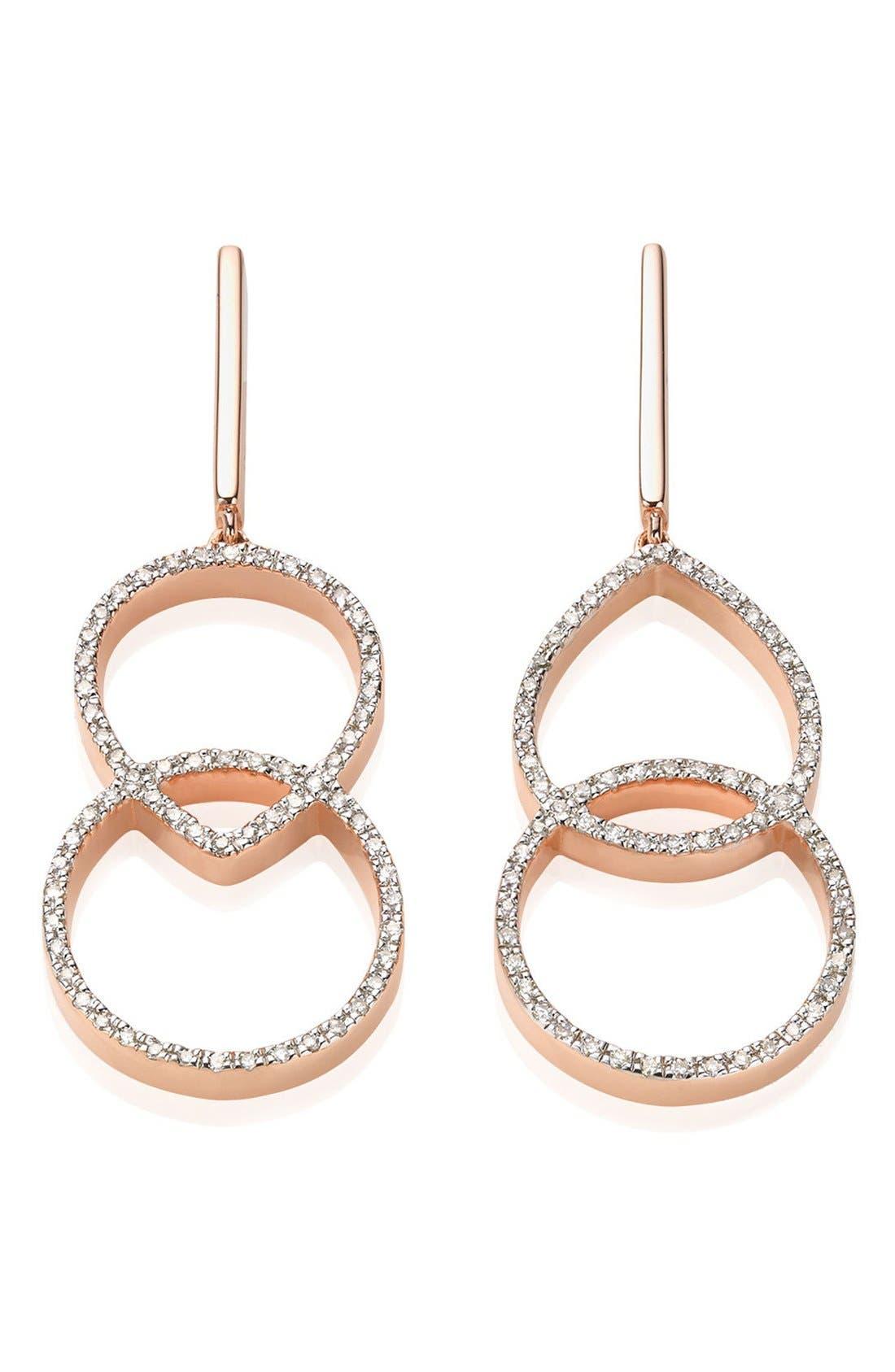 Naida Diamond Kiss Drop Earrings,                         Main,                         color, 650