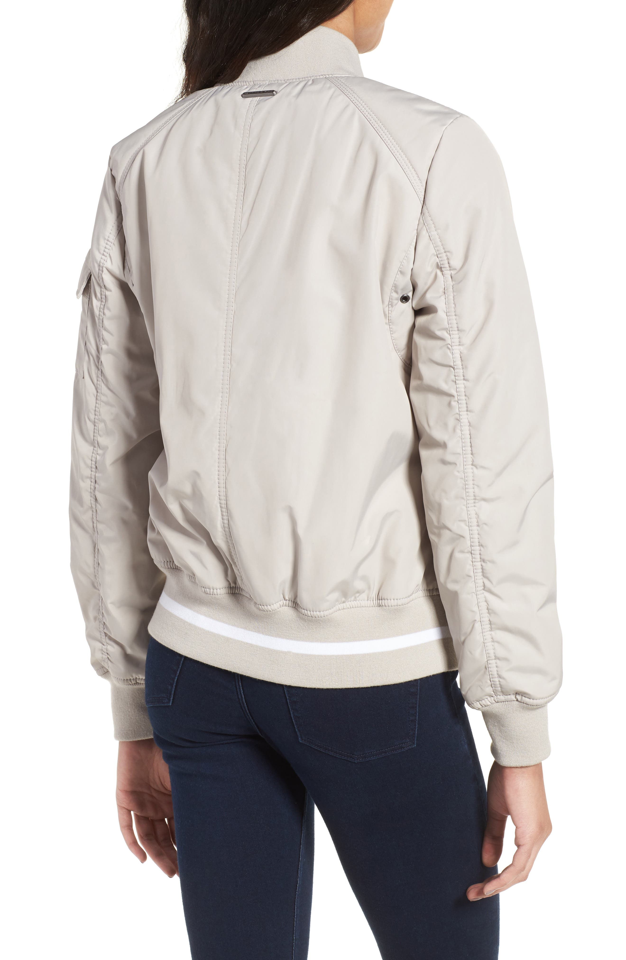 Foster Nylon Twill Bomber Jacket,                             Alternate thumbnail 7, color,