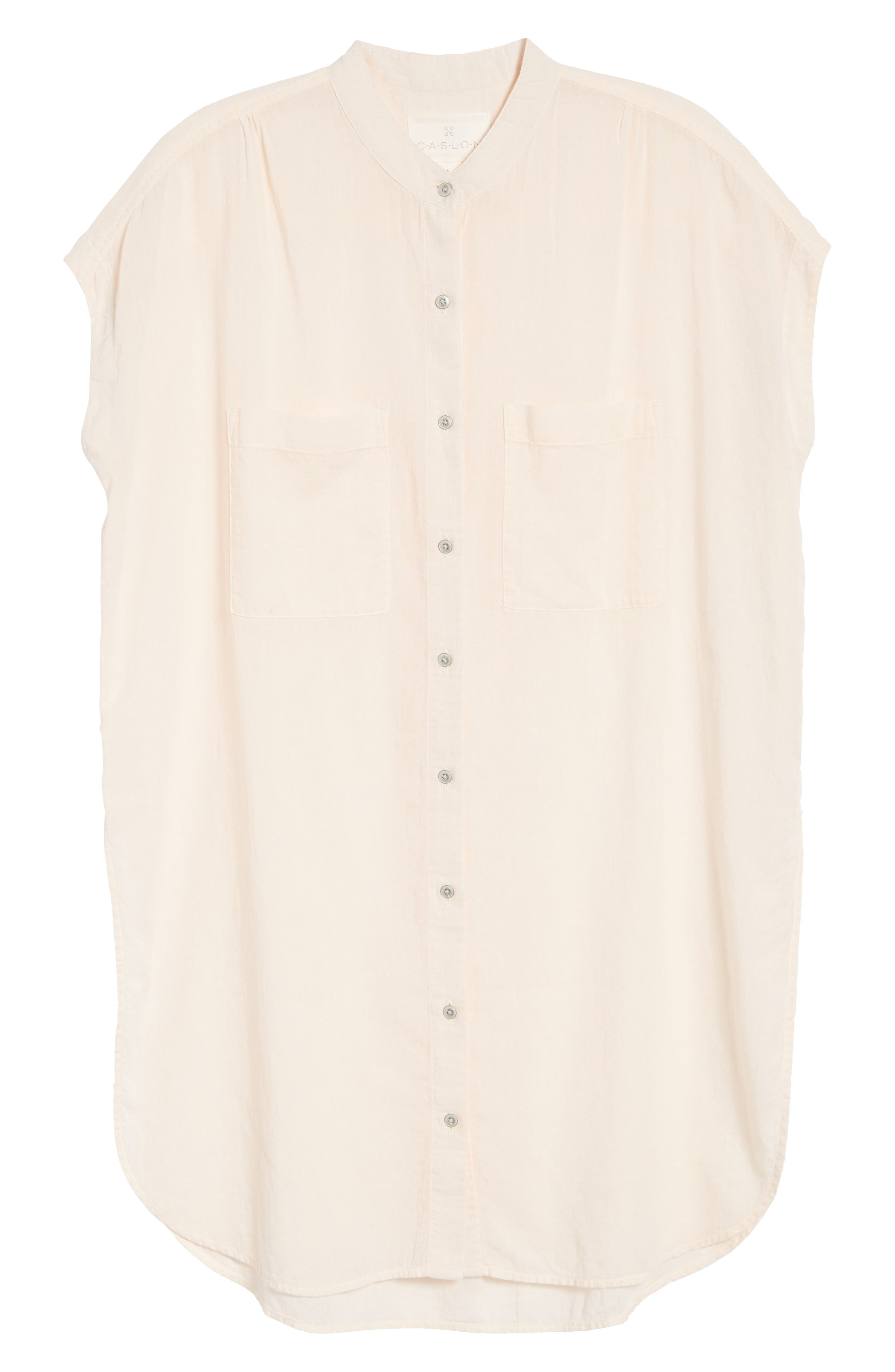 Button Front Longline Top,                             Alternate thumbnail 44, color,