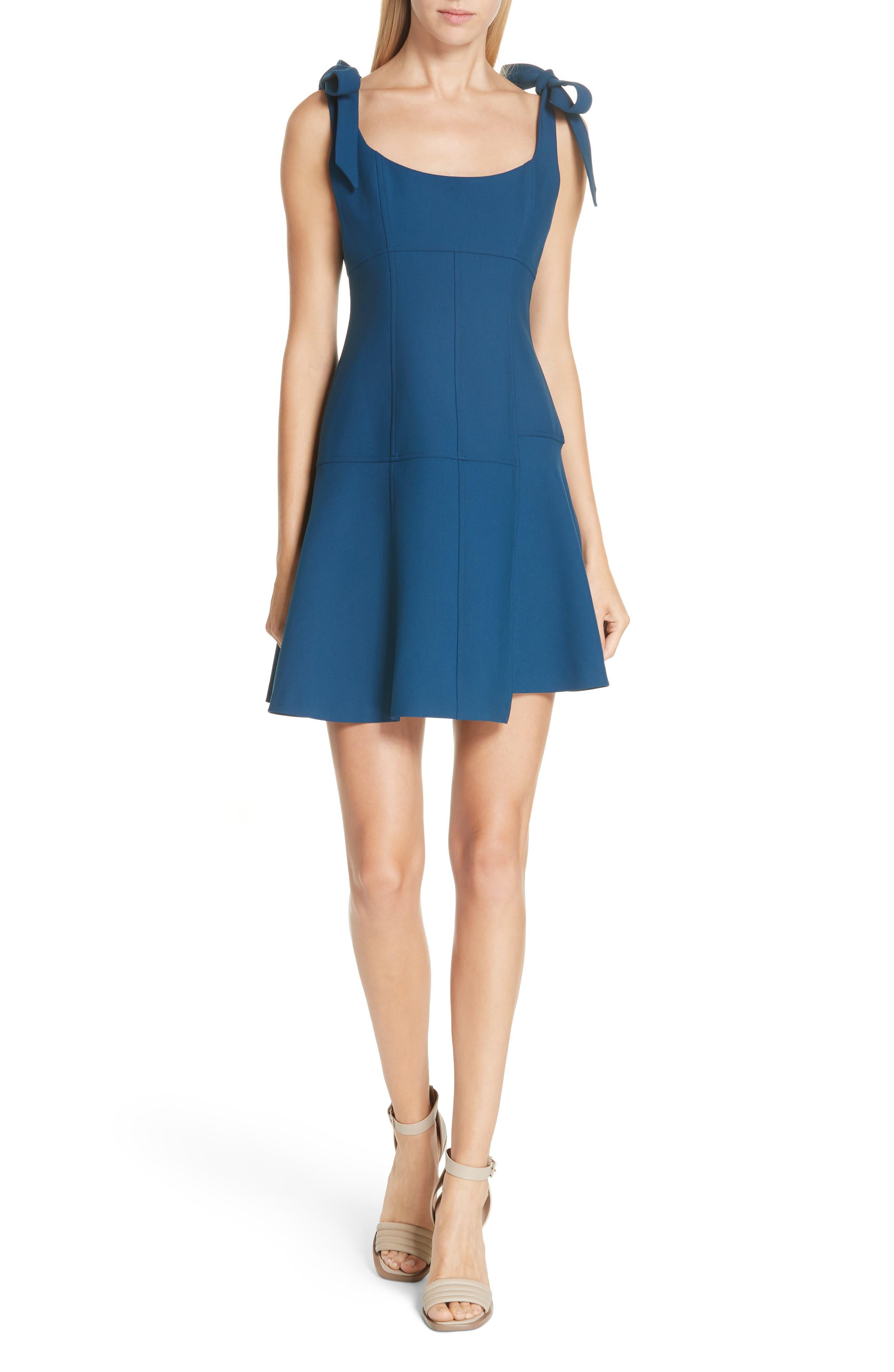 CINQ À SEPT Jeanette Tie Strap Dress, Main, color, 495
