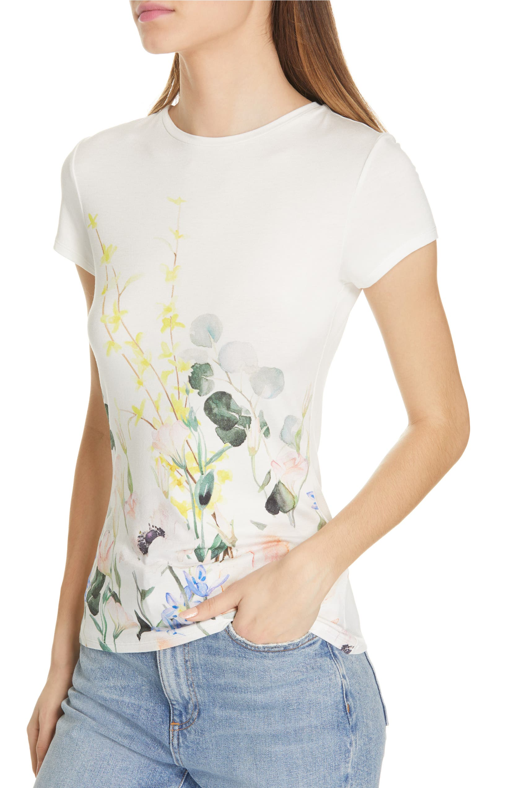 226cda971 Ted Baker London Bobiiee Elegance Fitted Tee | Nordstrom