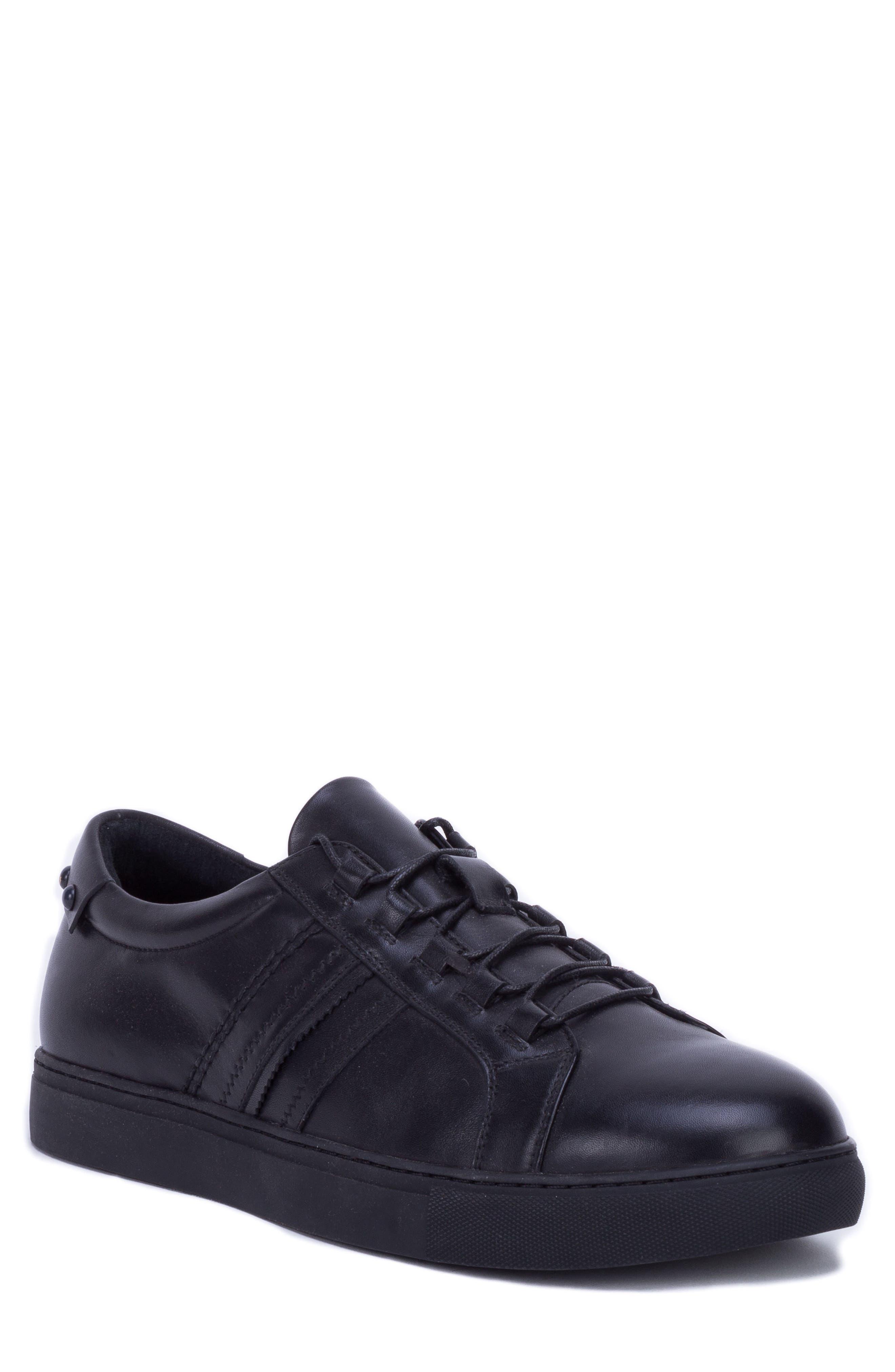 Robert Graham Horton Studded Low Top Sneaker, Black