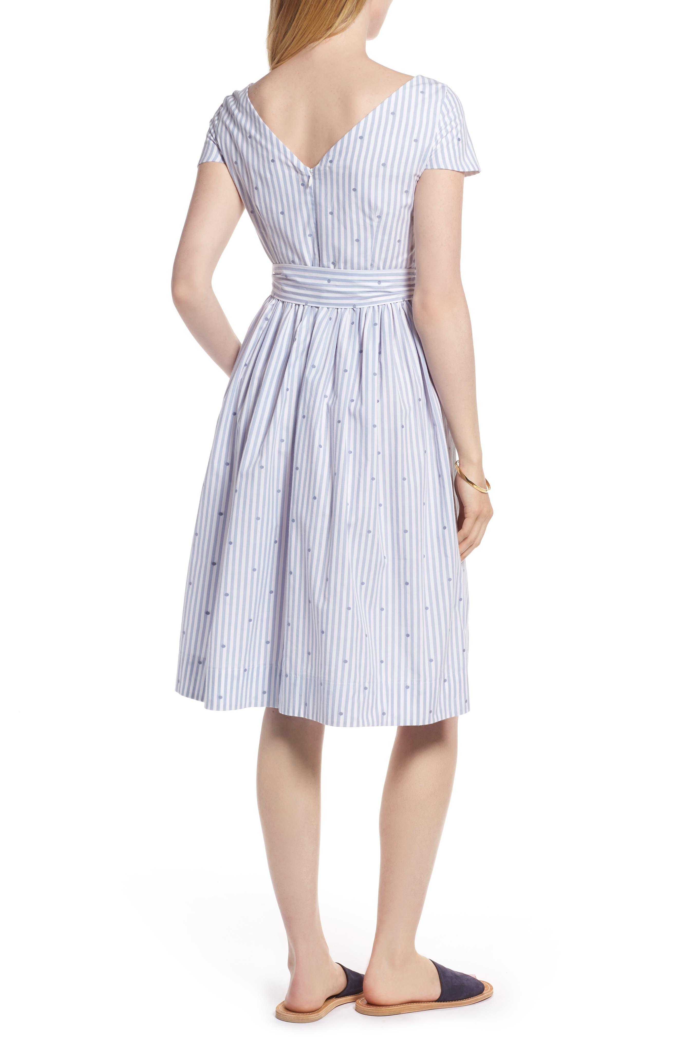 Stripe & Dot Cotton Dress,                             Alternate thumbnail 2, color,                             400