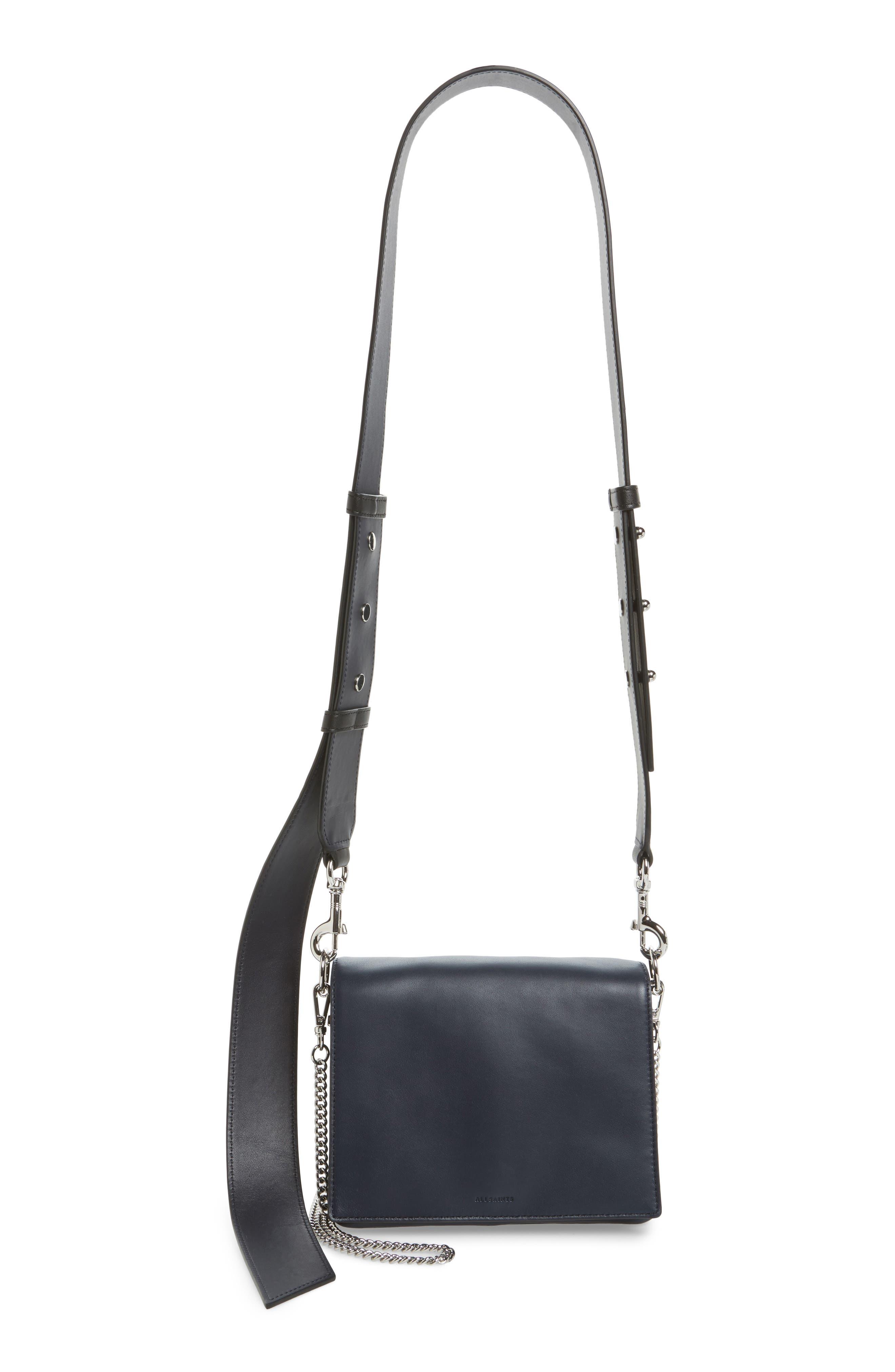 Zep Lambskin Leather Shoulder Bag,                             Main thumbnail 1, color,