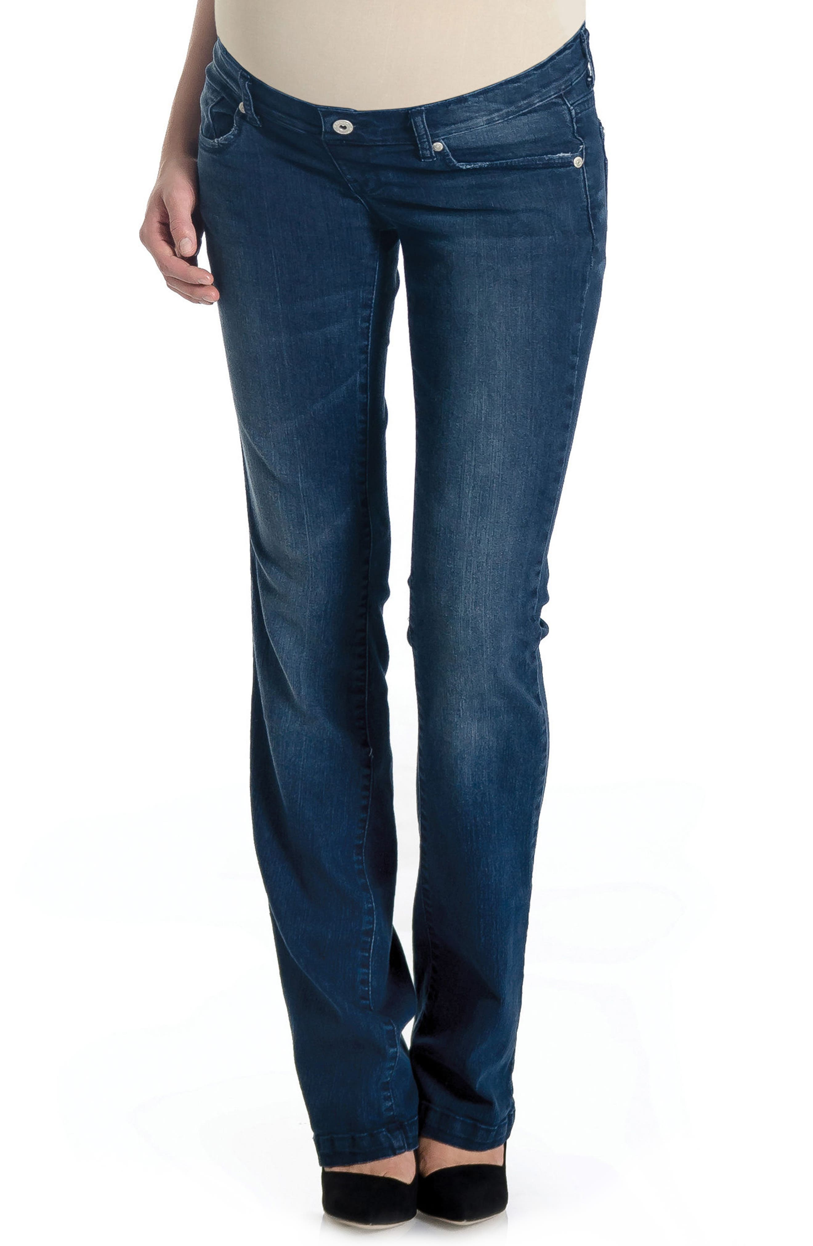 'Signature' Bootcut Maternity Stretch Jeans,                             Alternate thumbnail 6, color,