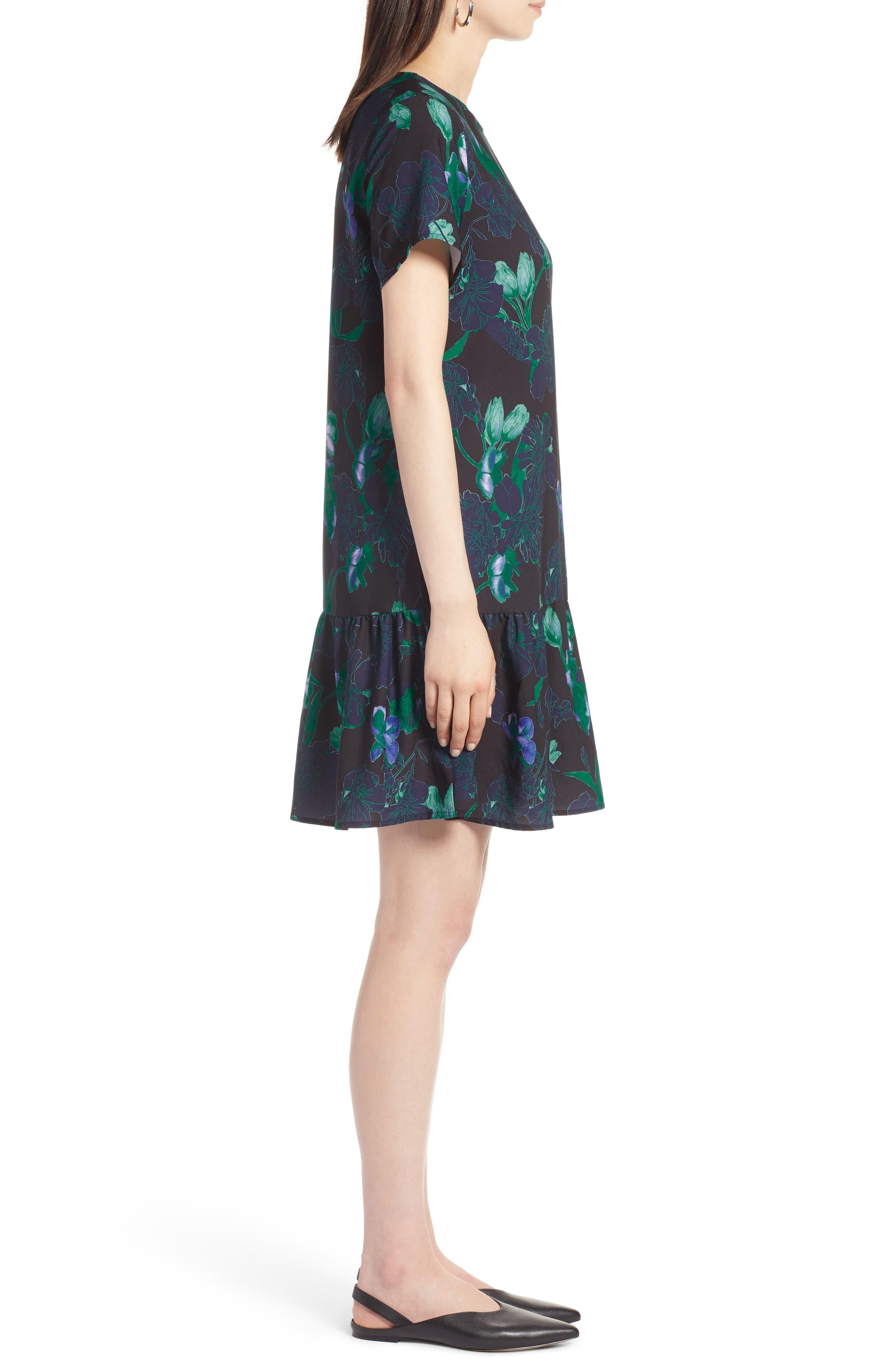 Short Sleeve Ruffle Hem Dress,                             Alternate thumbnail 15, color,
