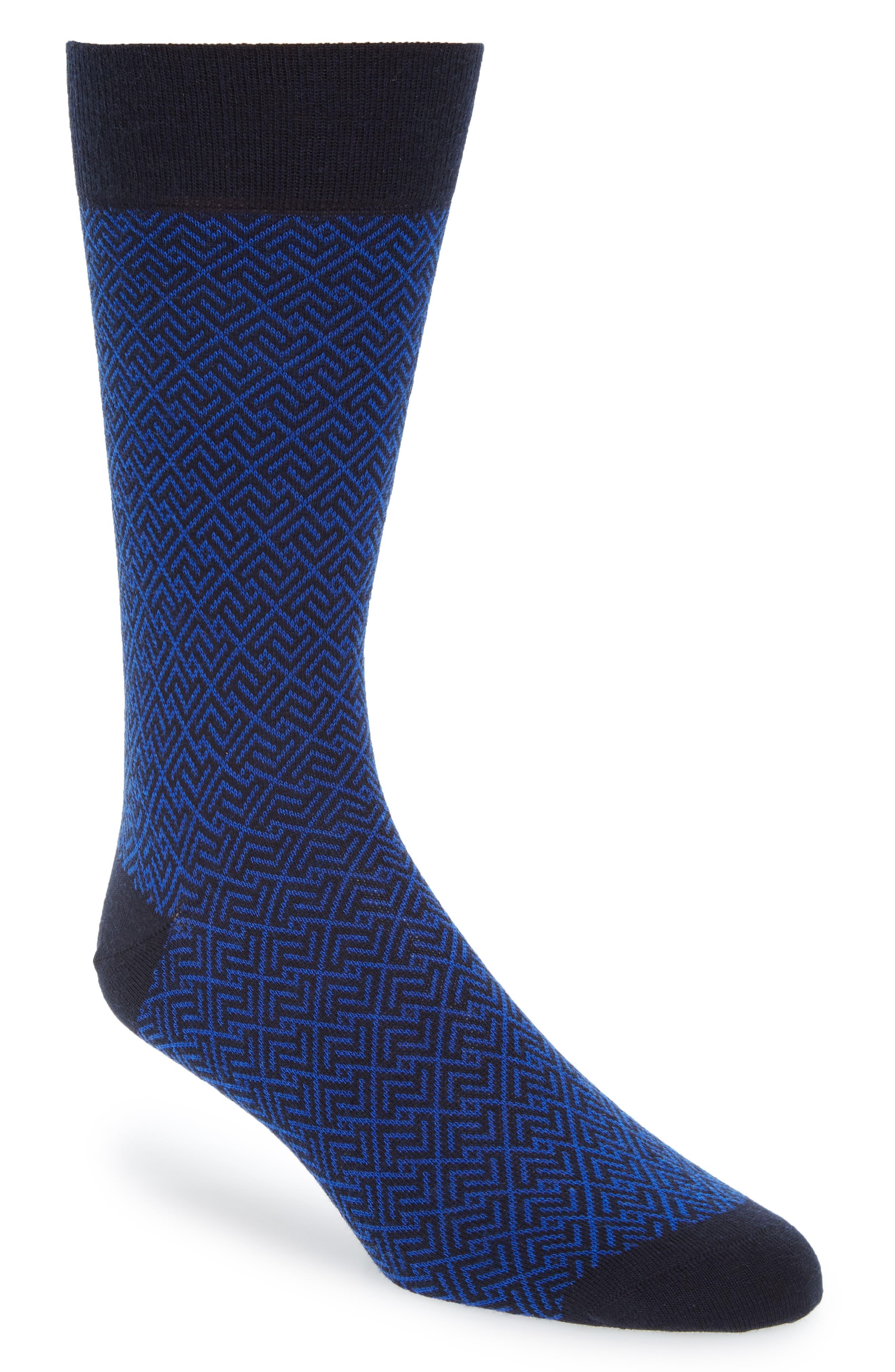 History of Vintage Men's Socks -1900 to 1960s Mens Pantherella Retro Jacquard Socks $17.98 AT vintagedancer.com