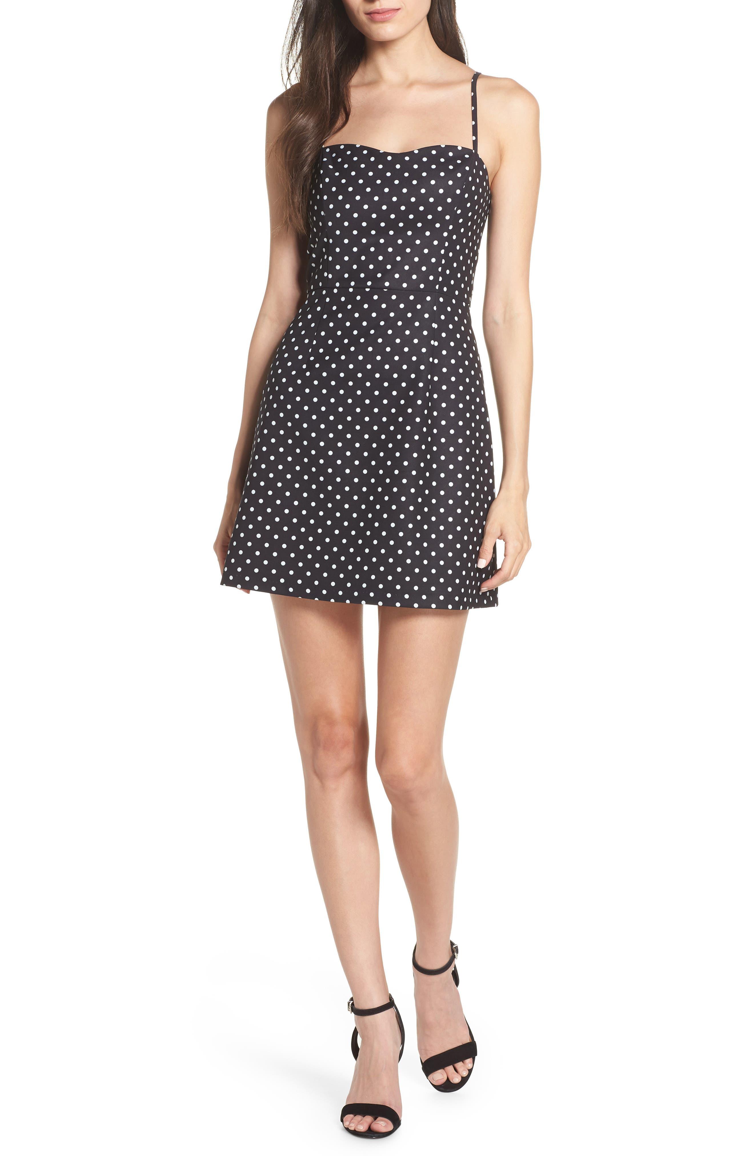 French Connection Whisper Polka Dot Dress