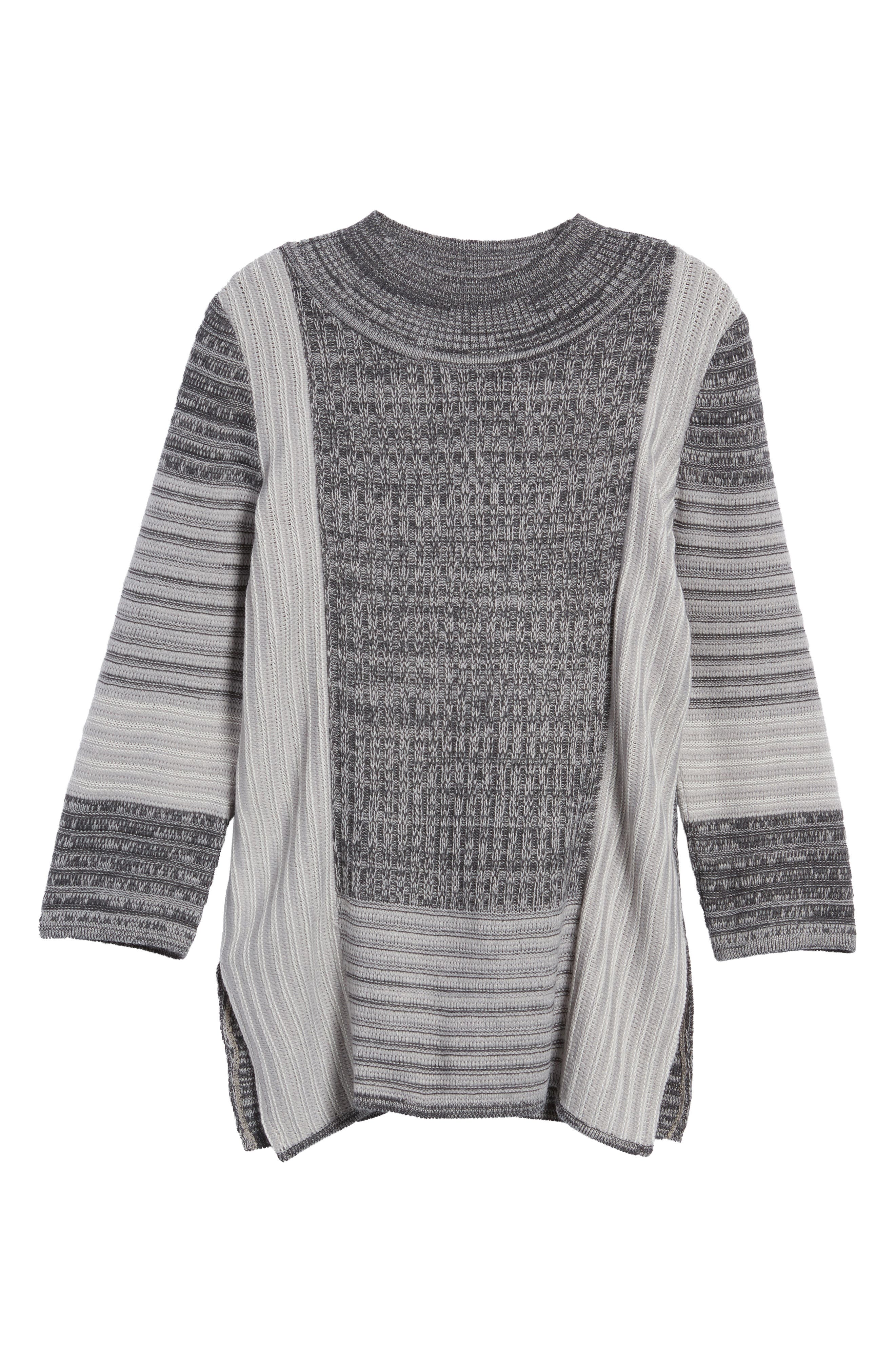 Mixed Knit Tunic Sweater,                             Alternate thumbnail 6, color,                             029