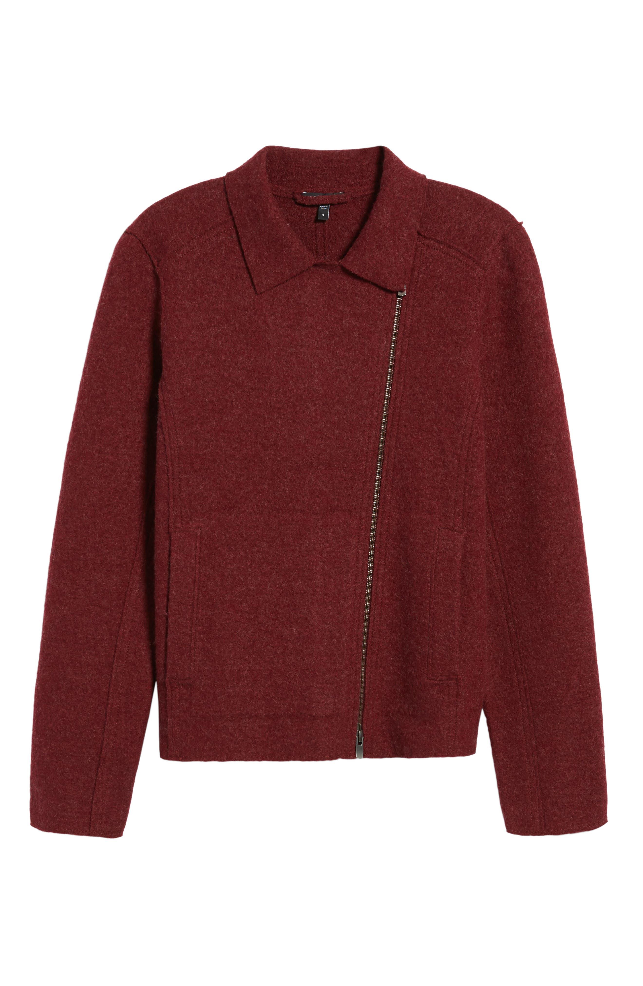 Boiled Wool Moto Jacket,                             Alternate thumbnail 20, color,