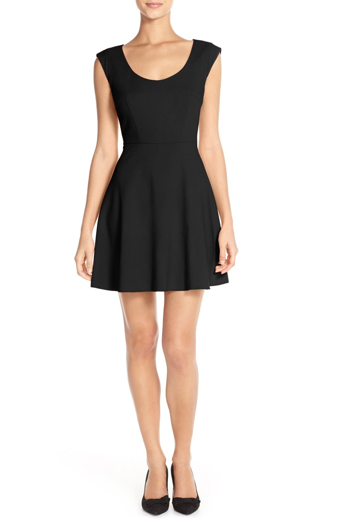 Whisper Light Fit & Flare Dress,                         Main,                         color,