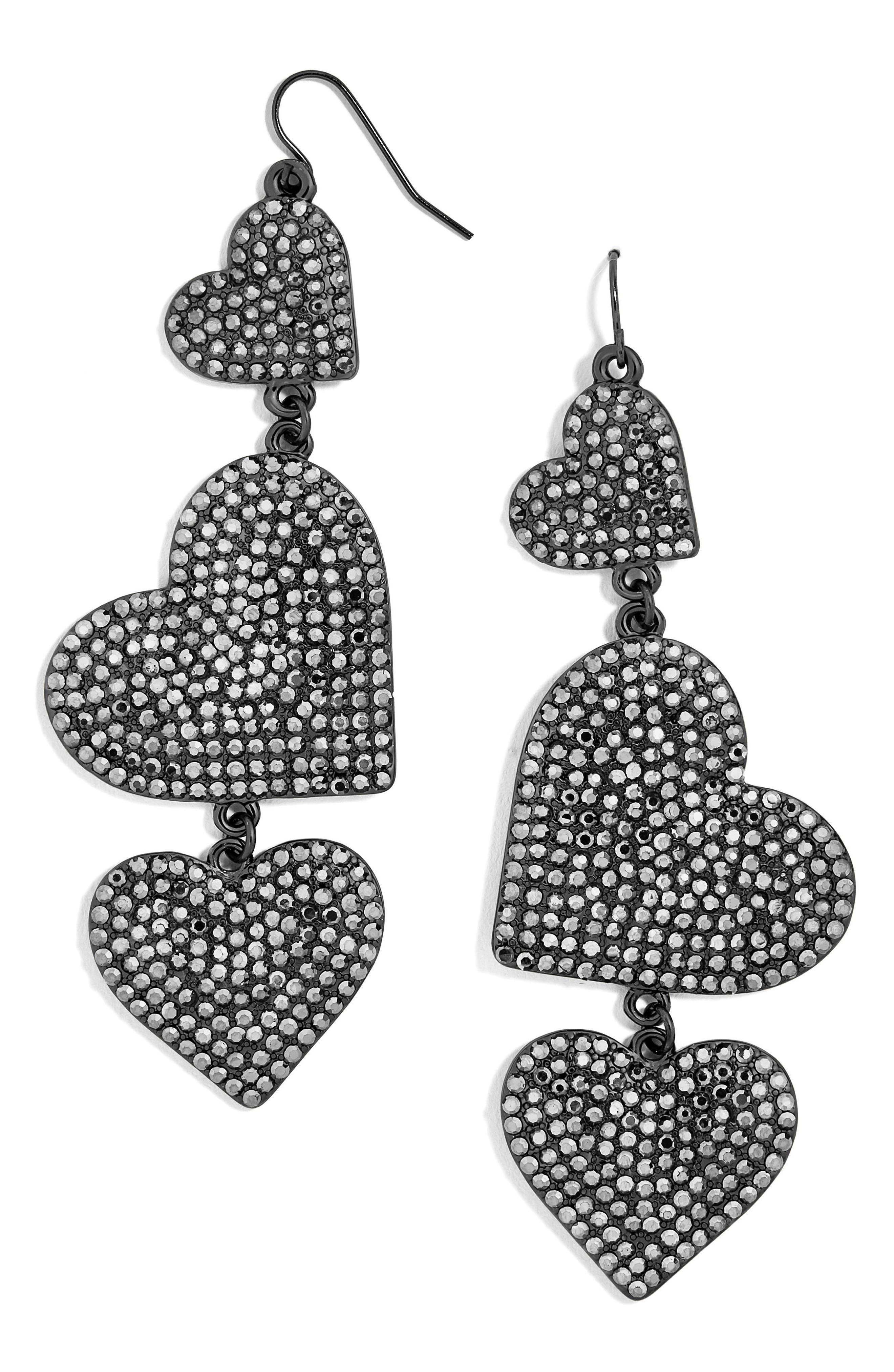 Serenity Pavé Drop Earrings,                             Main thumbnail 1, color,