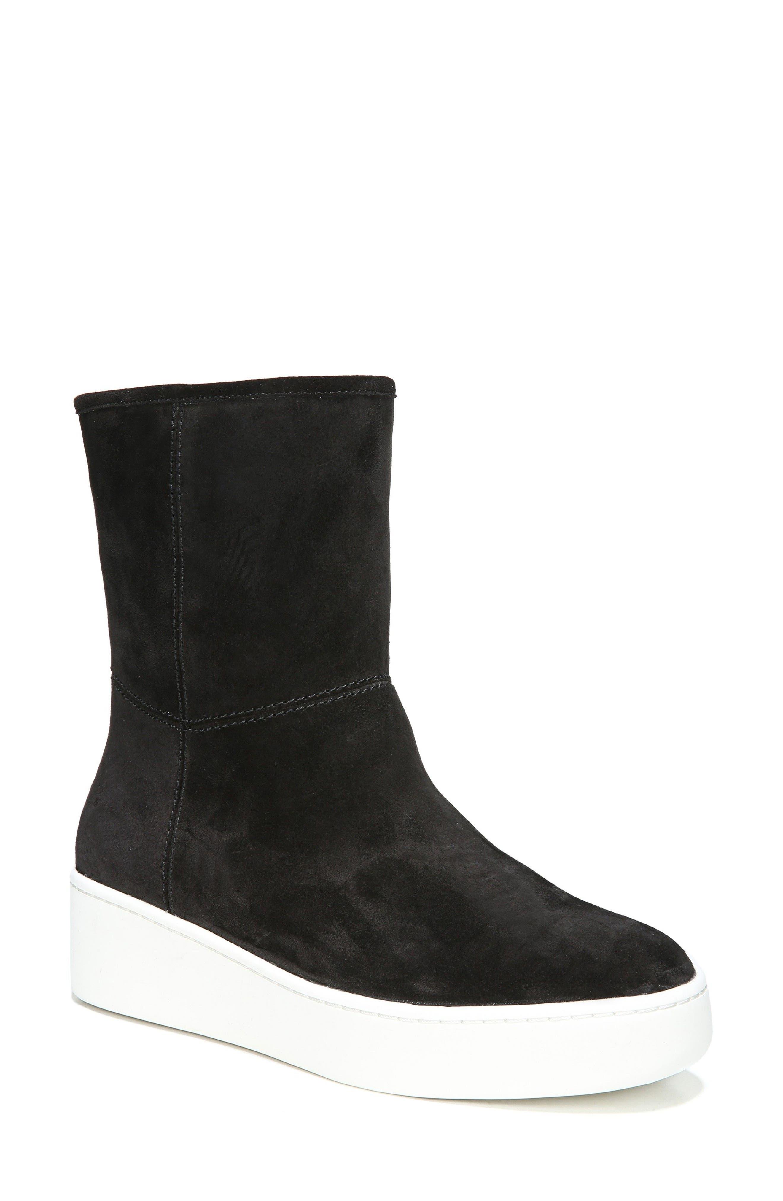 Elona Genuine Shearling Lined Sneaker Boot,                             Main thumbnail 1, color,                             001