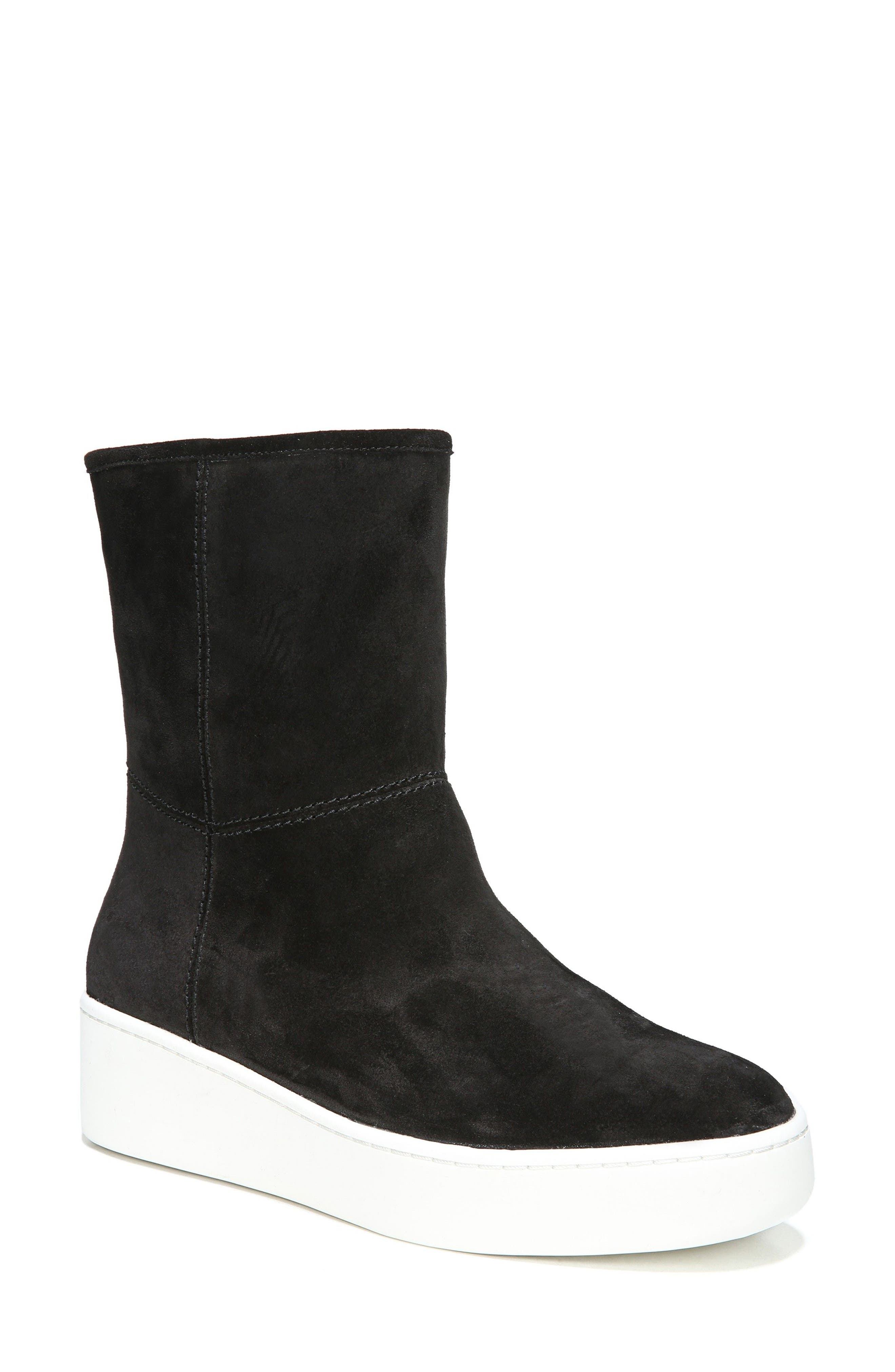 Elona Genuine Shearling Lined Sneaker Boot,                         Main,                         color, 001