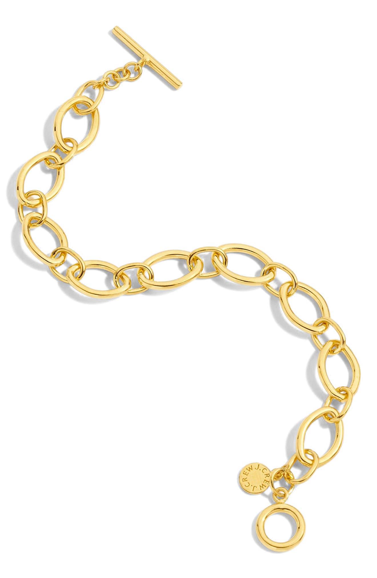 Wide Chain Bracelet,                         Main,                         color, GOLD