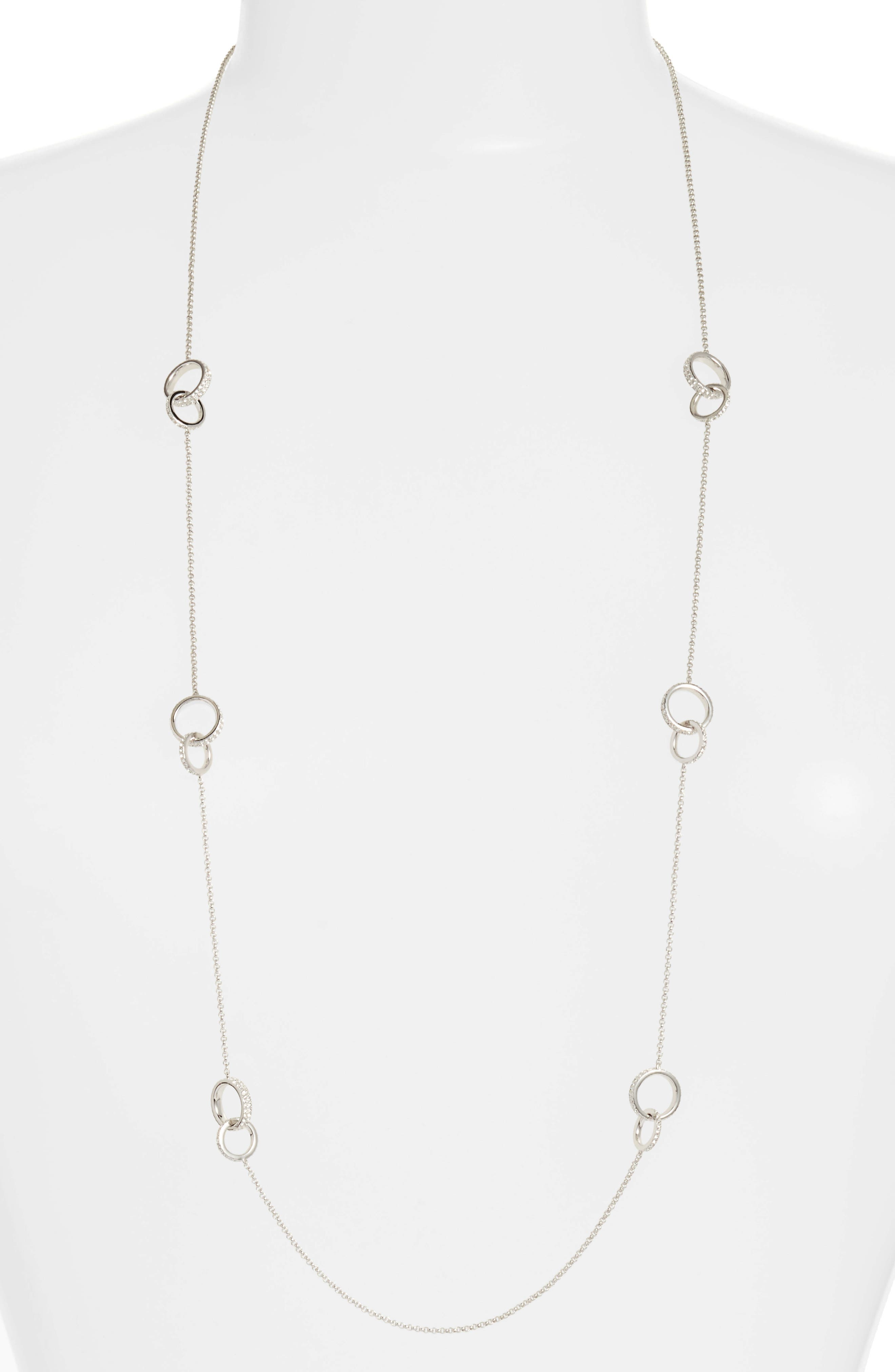 Trinity Double Link Long Necklace,                             Main thumbnail 3, color,