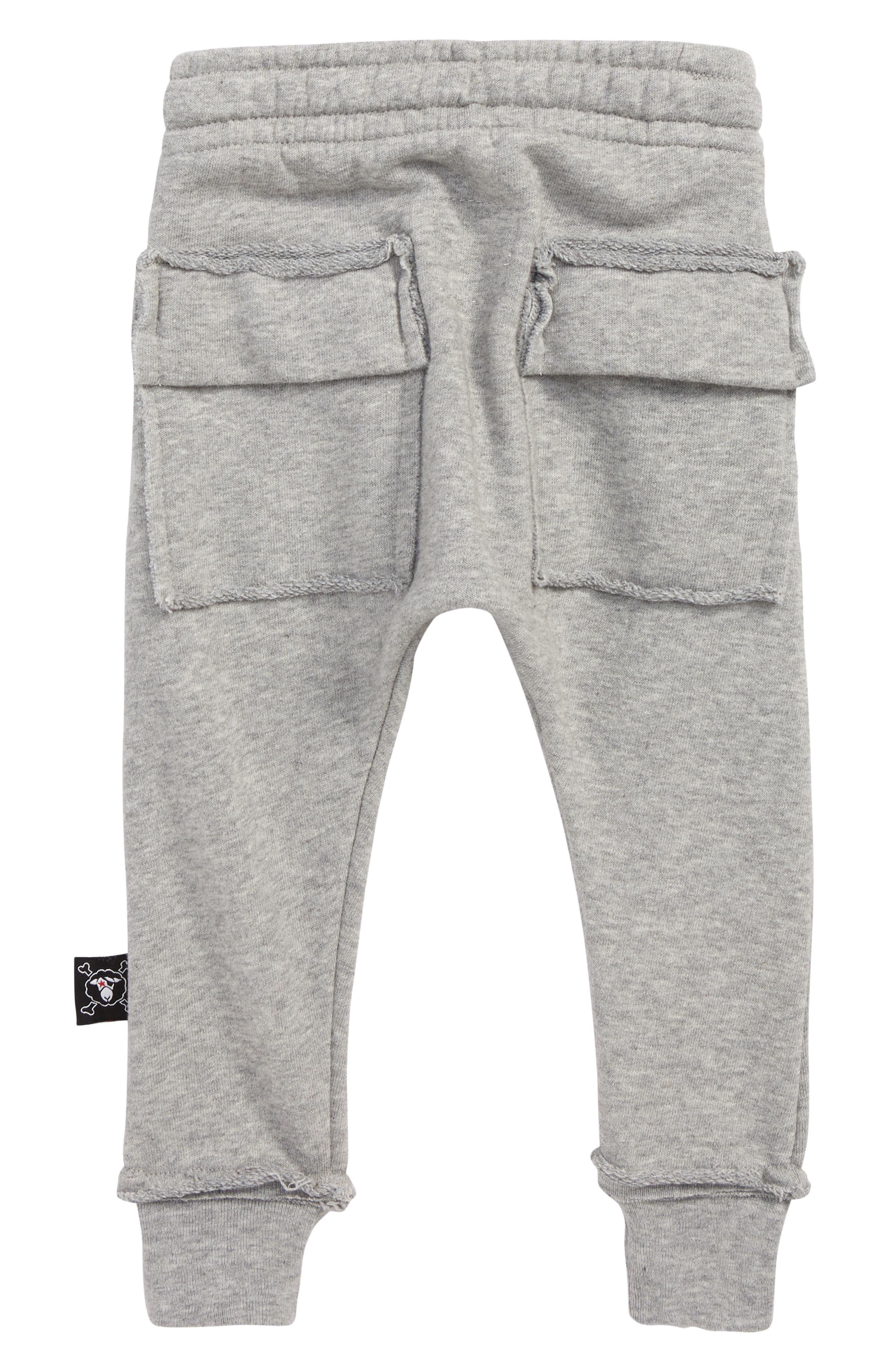 Skull Robot Patch Baggy Pants,                             Alternate thumbnail 2, color,                             HEATHER GREY