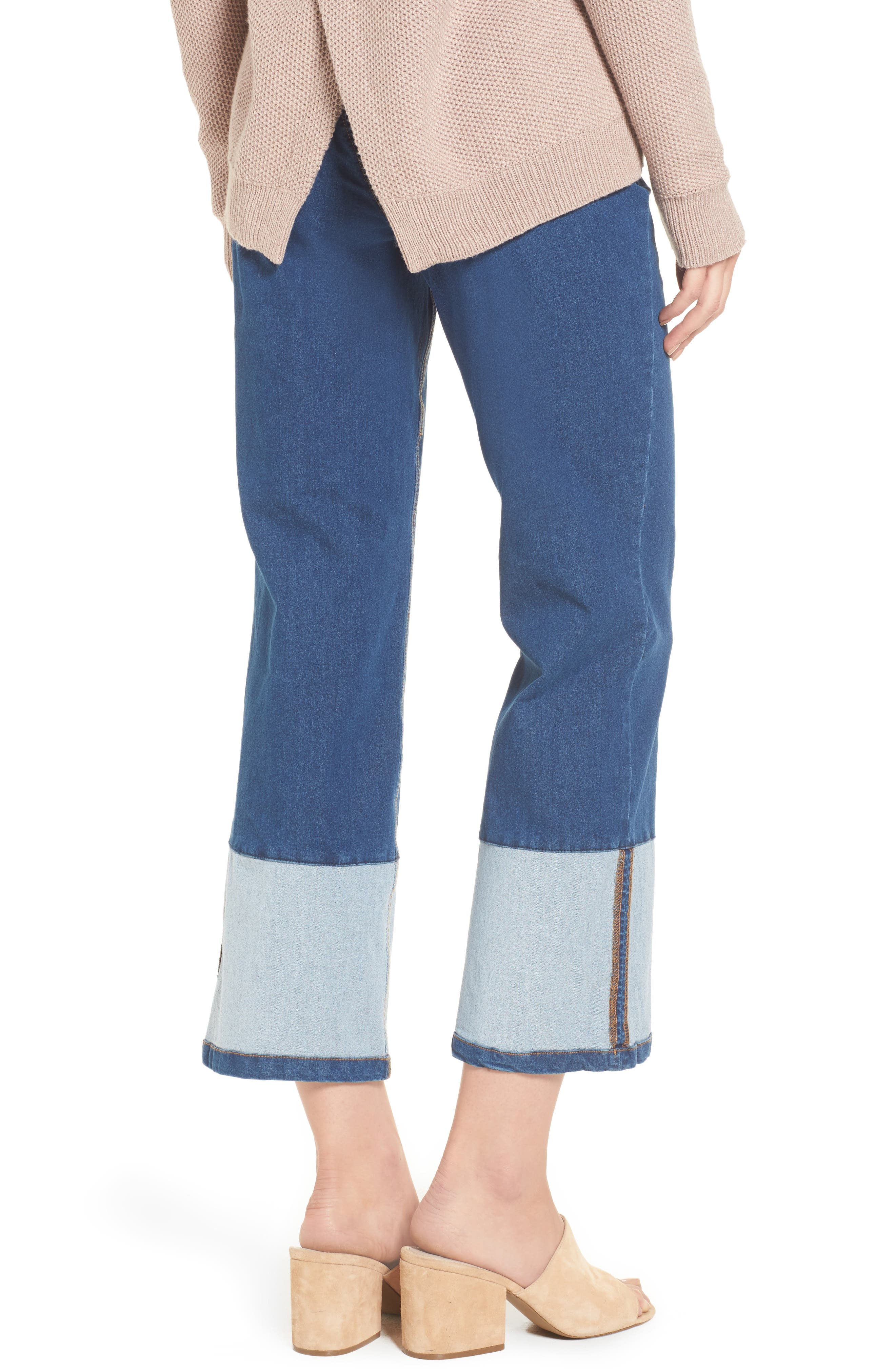 Crop Denim Pants,                             Alternate thumbnail 2, color,